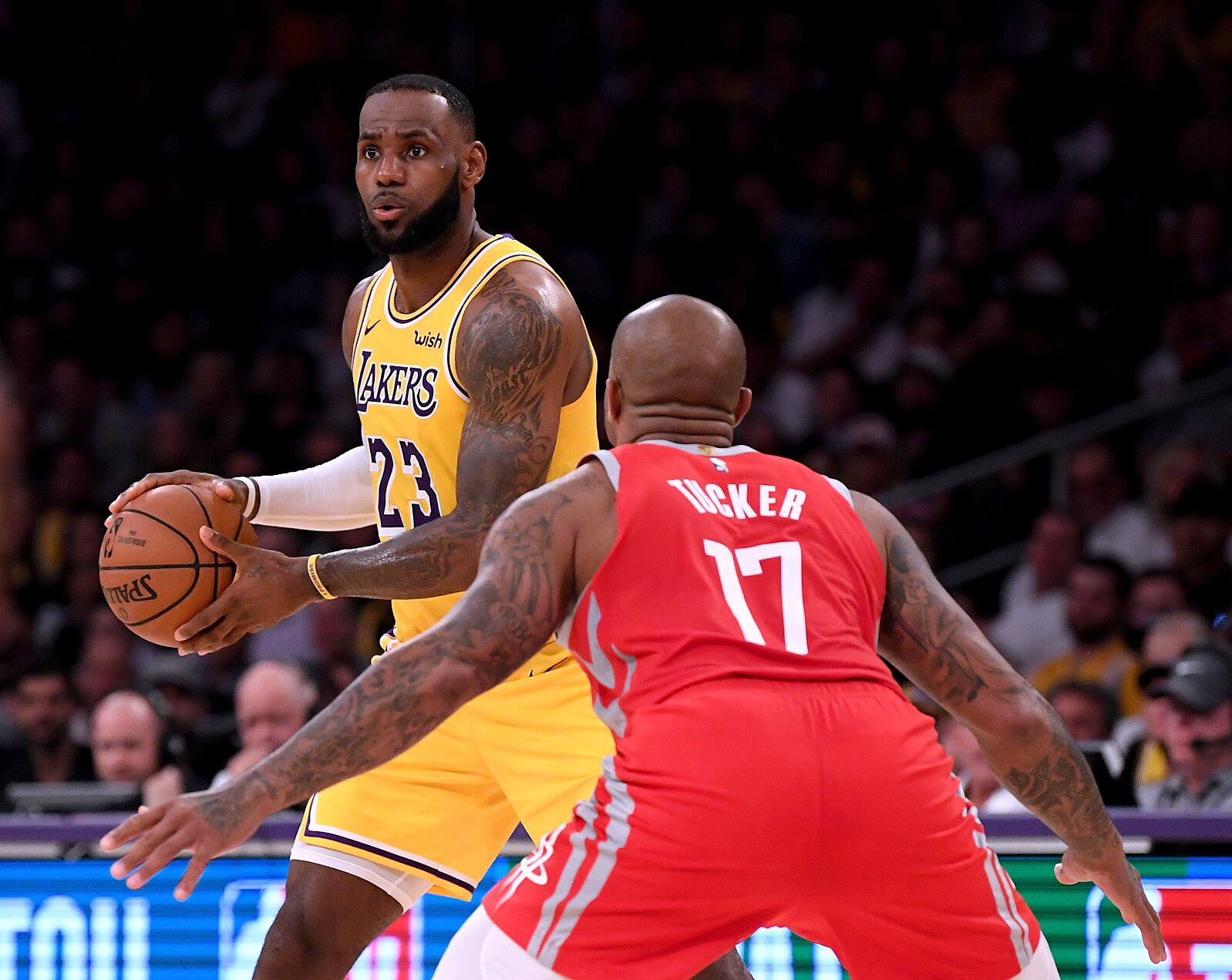 72755591a5f How the Houston Rockets spoiled LeBron s Lakers home debut - Page 3