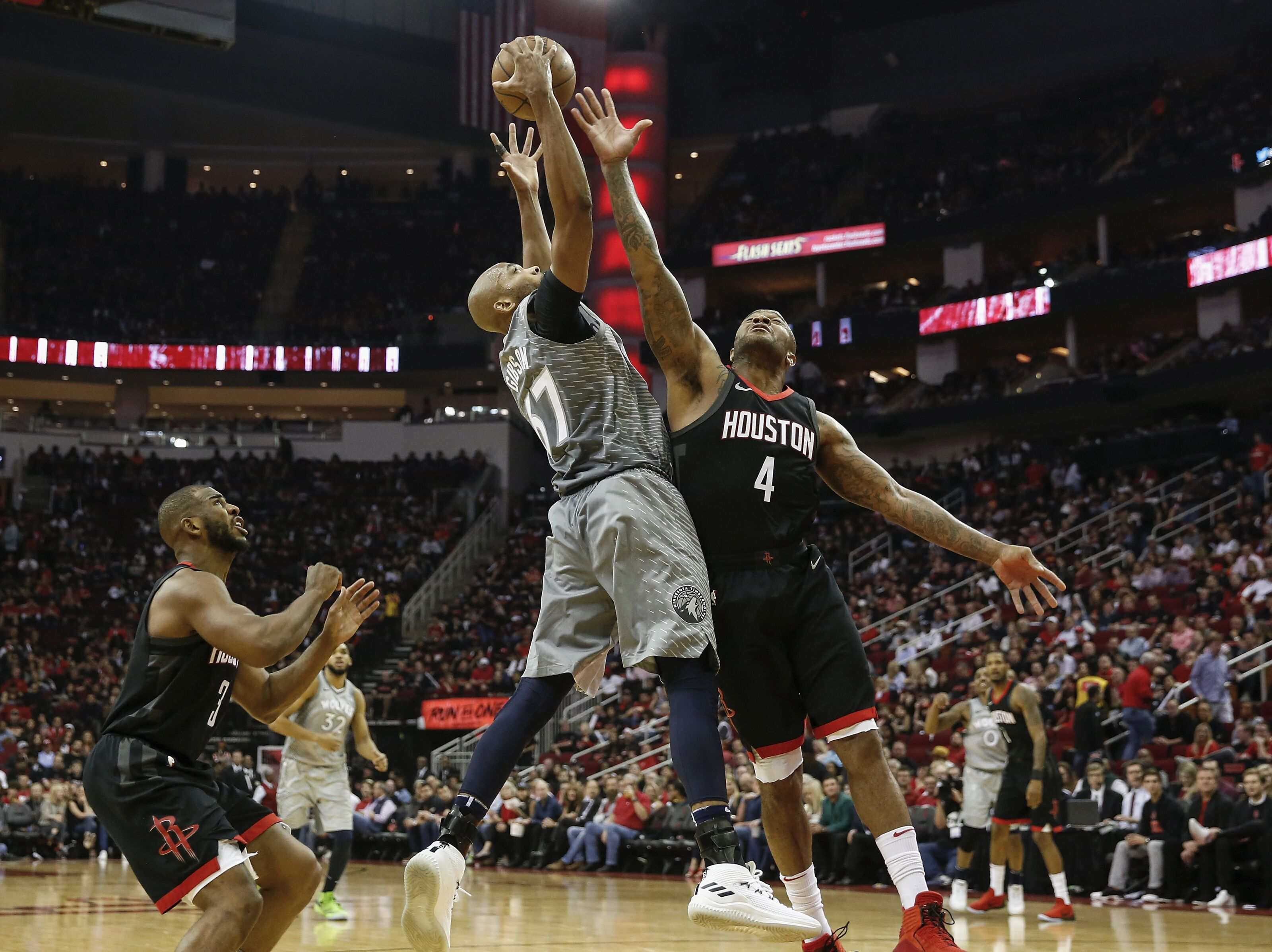 632bee17a045 Houston Rockets crush T-Wolves to take a 2-0 series lead