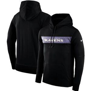 96117fac8 Baltimore Ravens Nike Sideline Team Performance Pullover Hoodie – Black