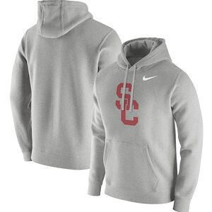 02eb33bf94166d USC Trojans Nike Club Fleece Pullover Hoodie – Heathered Gray