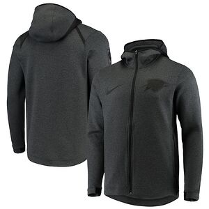 size 40 0c436 a66d3 Oklahoma City Thunder Nike Showtime Tonal Therma Flex Performance Full-Zip  Hoodie – Black