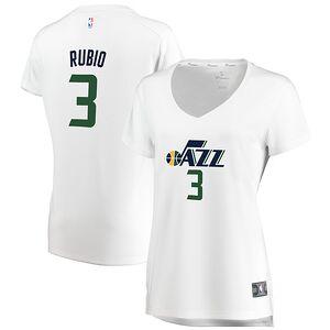 56b015c5645 Ricky Rubio Utah Jazz Fanatics Branded Women's Fast Break Replica Jersey  White - Association Edition