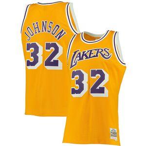 e0aa02e0b Magic Johnson Los Angeles Lakers Mitchell   Ness Big   Tall Hardwood  Classics Jersey – Gold