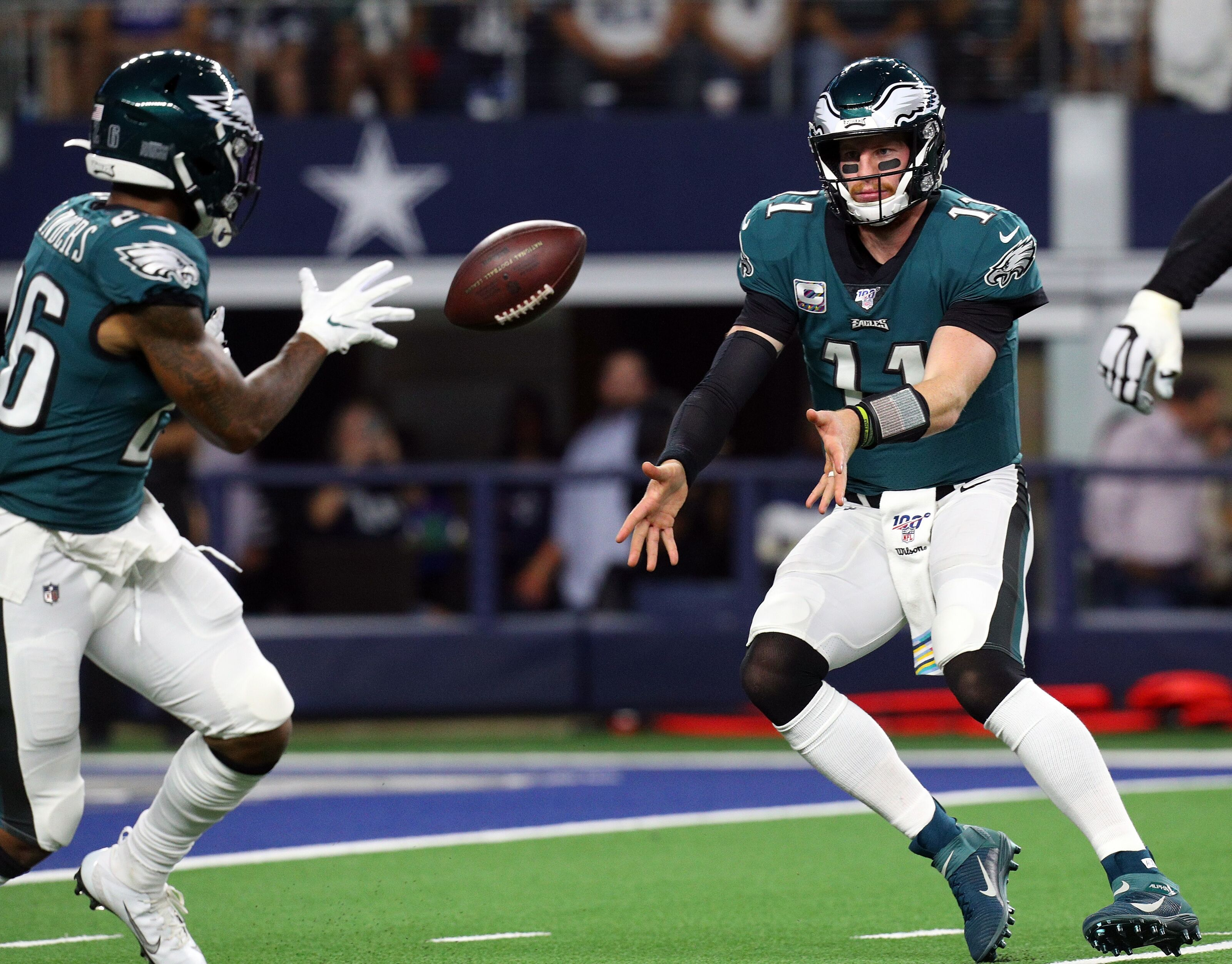 2 Cool comments Miles Sanders made on Carson Wentz. Doug Pederson