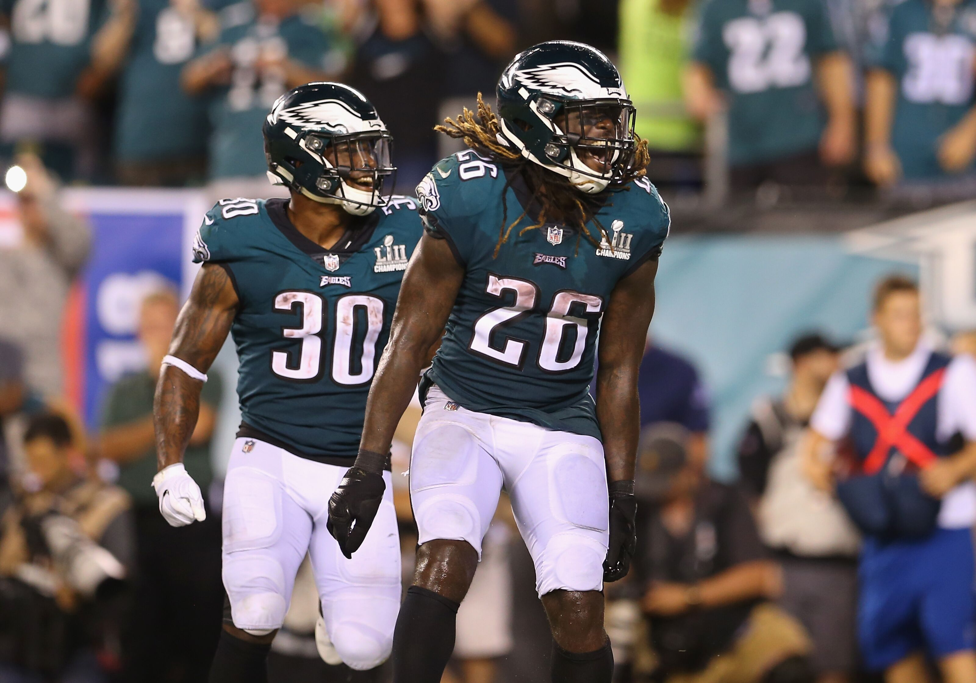 811697254d8 Jay Ajayi, Corey Clement celebrated Eagles win via Facetime