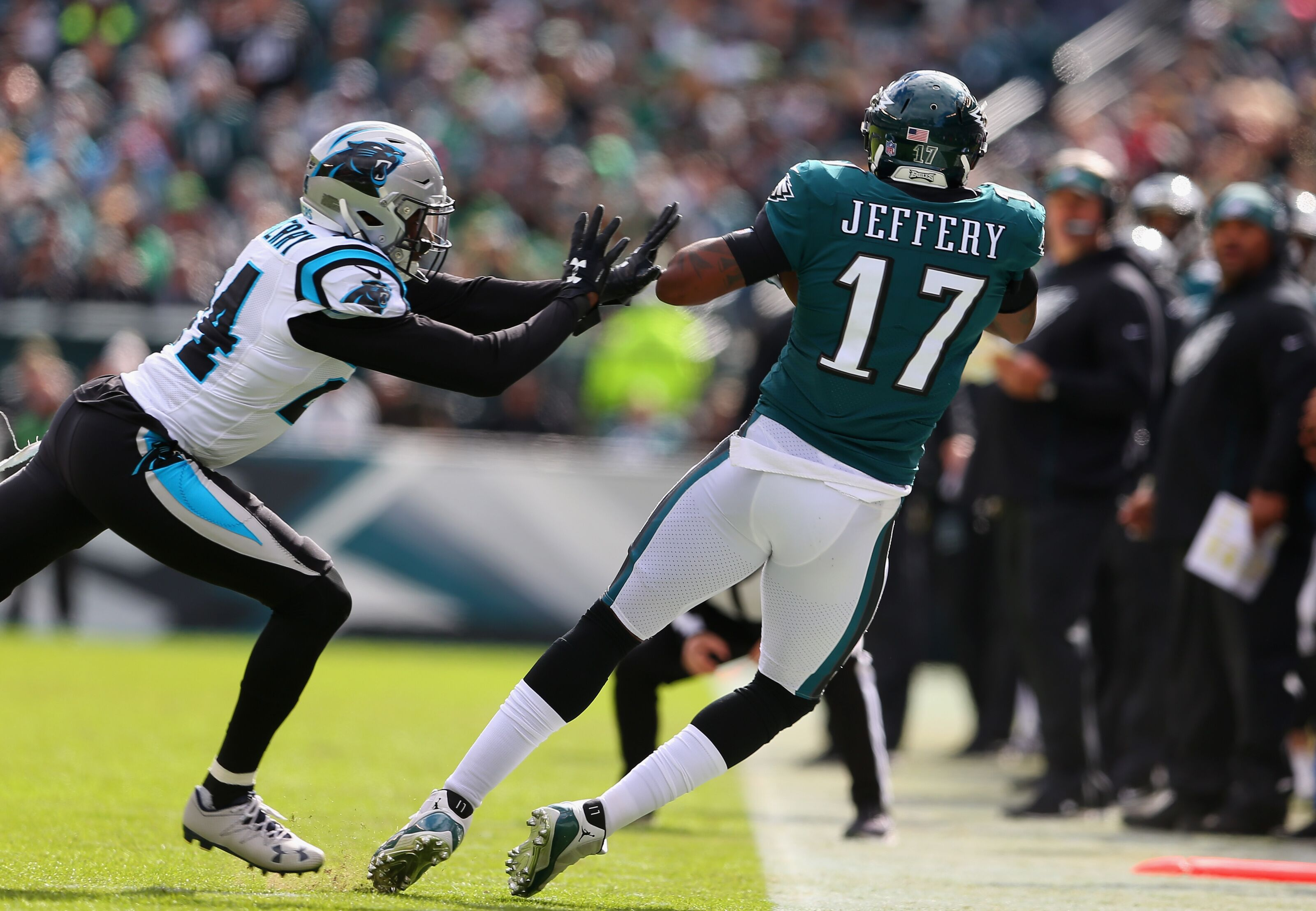 Where does Philadelphia Eagles RB and WR corps rank?