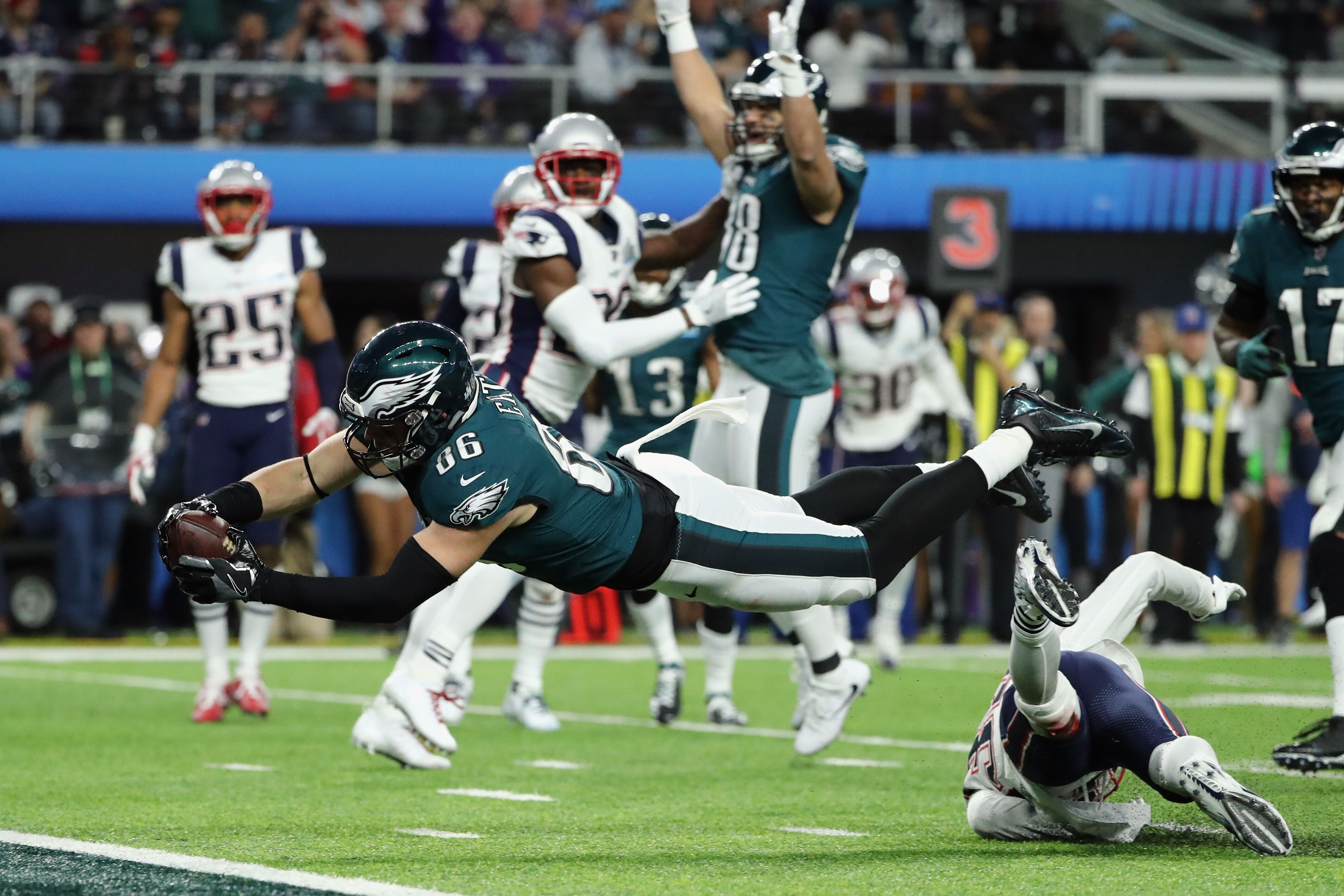 3a126853730 Zach Ertz reminds everybody that he caught the ball in Super Bowl LII