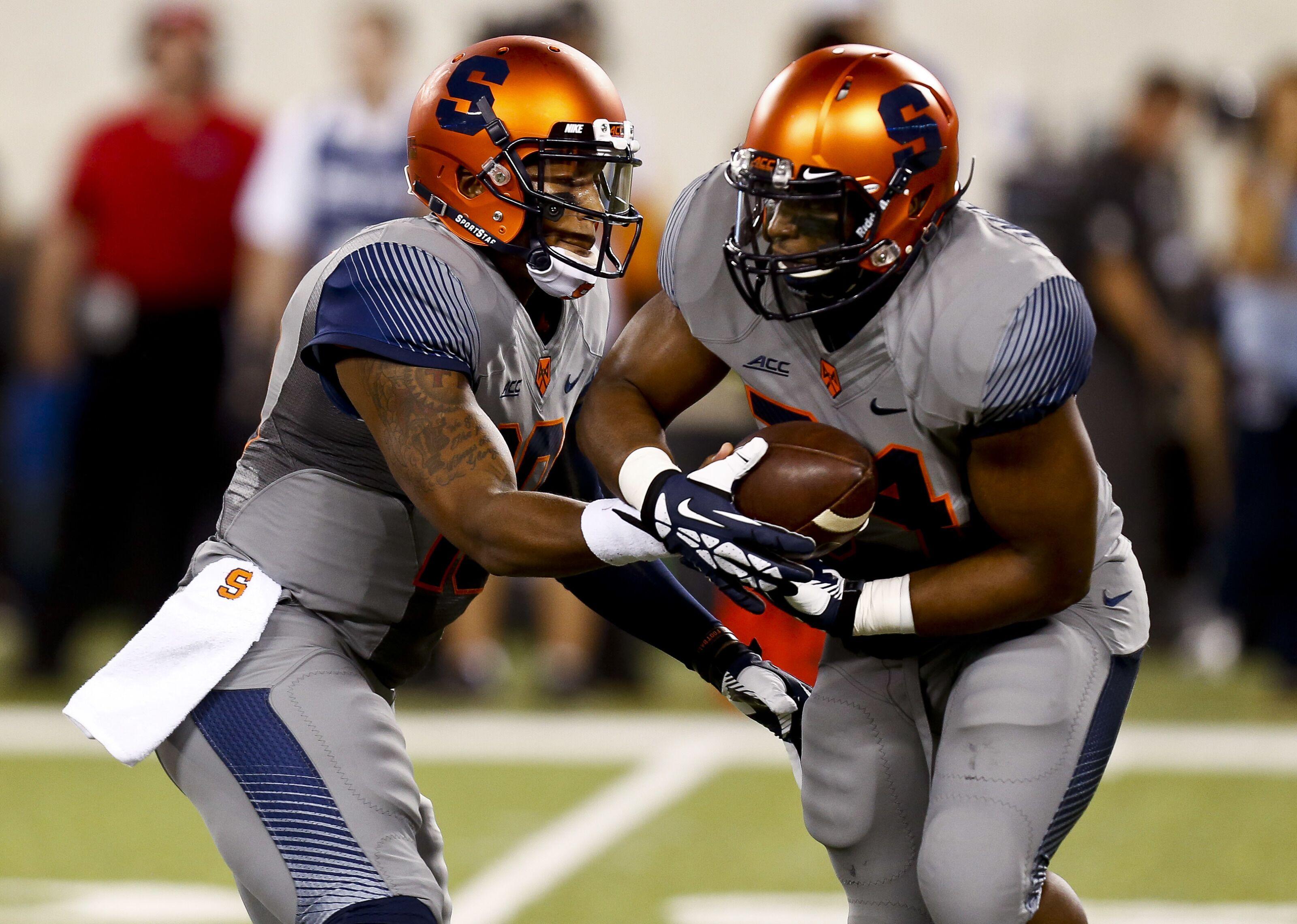 best website 236e7 35aba Syracuse Football: Awful platinum SU jerseys earn national ...