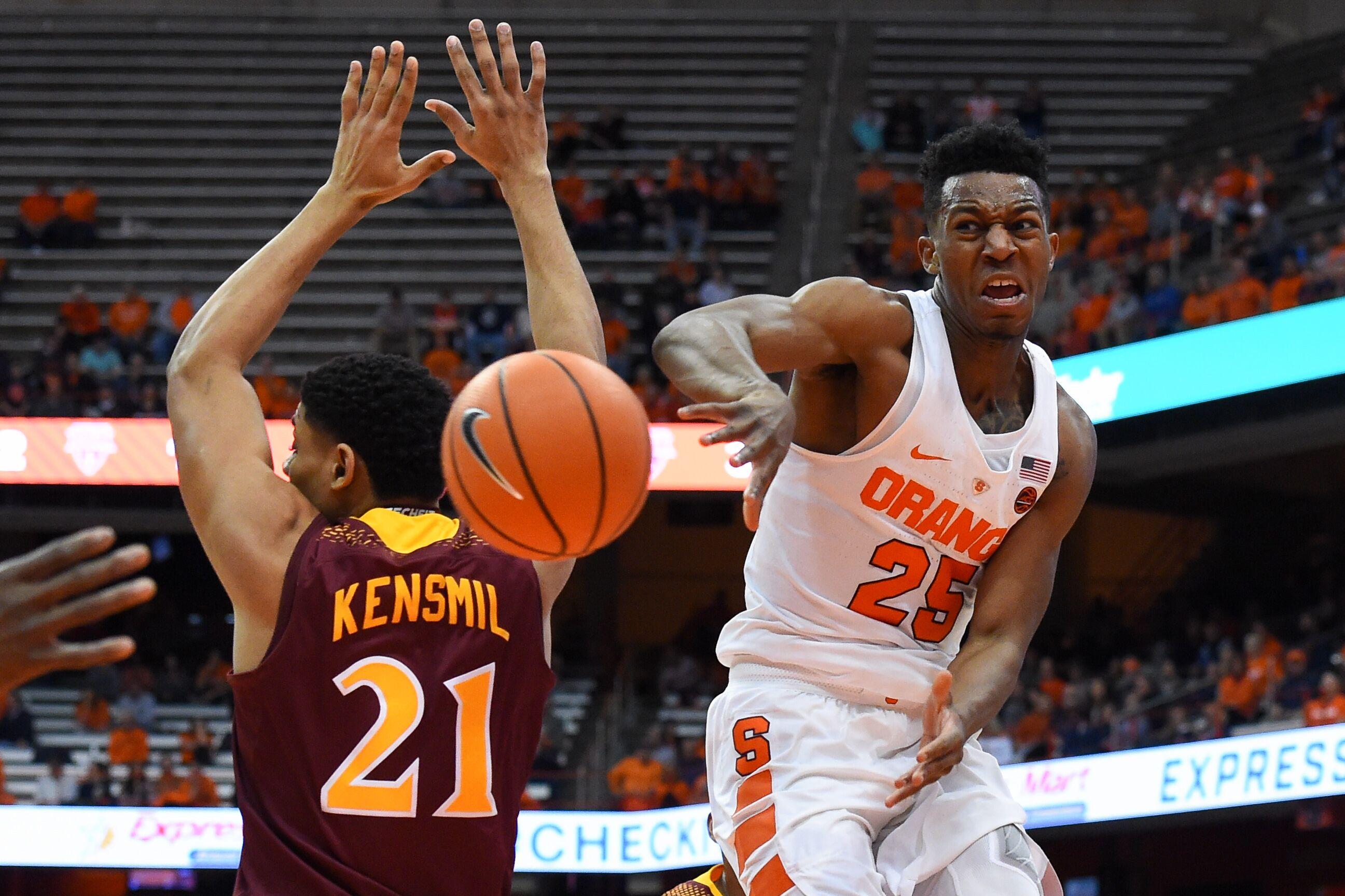 Syracuse Basketball Tyus Battle Frank Howard Step Up Big For Su