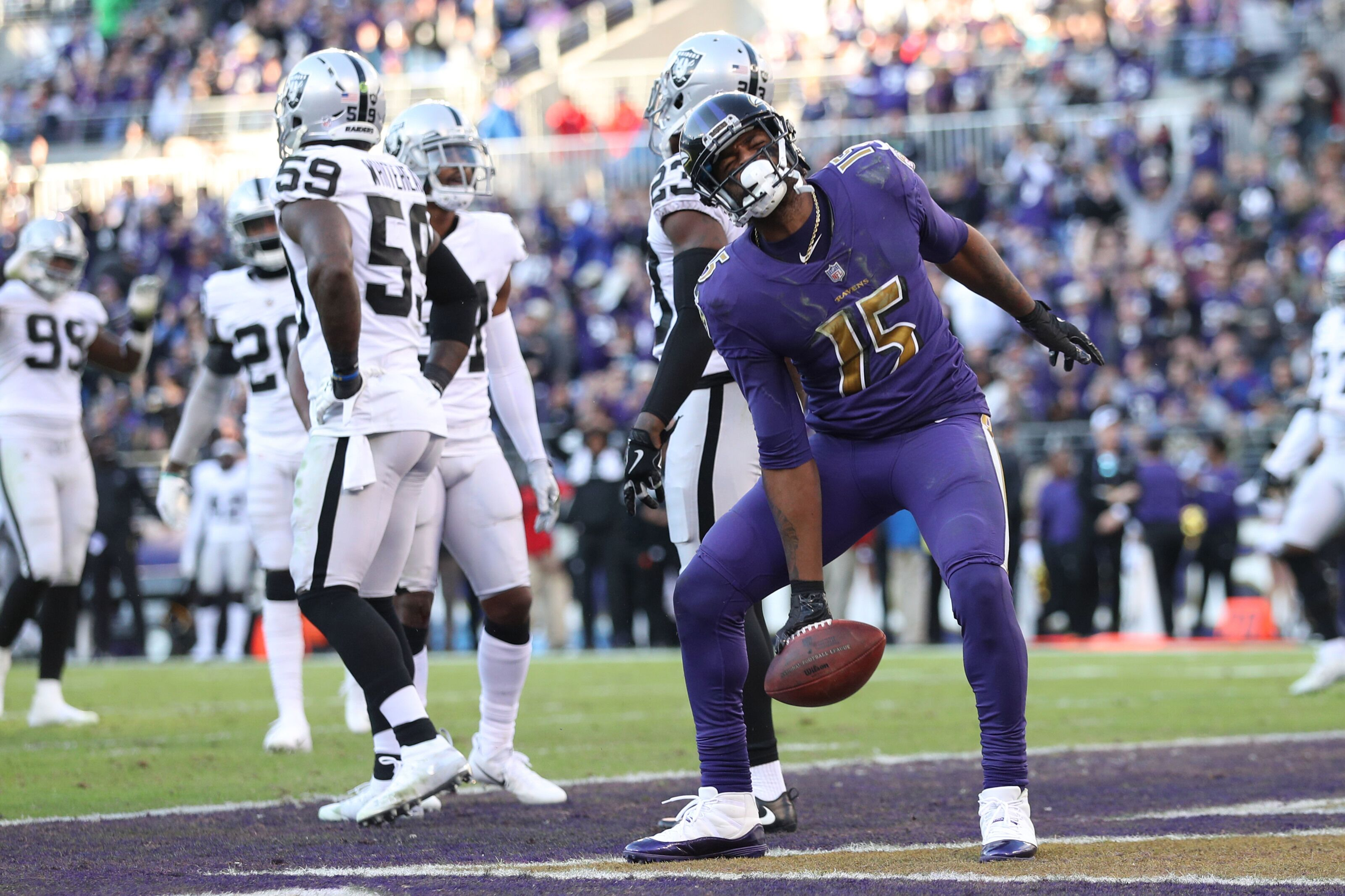 Raiders lifeless in second half again, fall to Ravens on the road