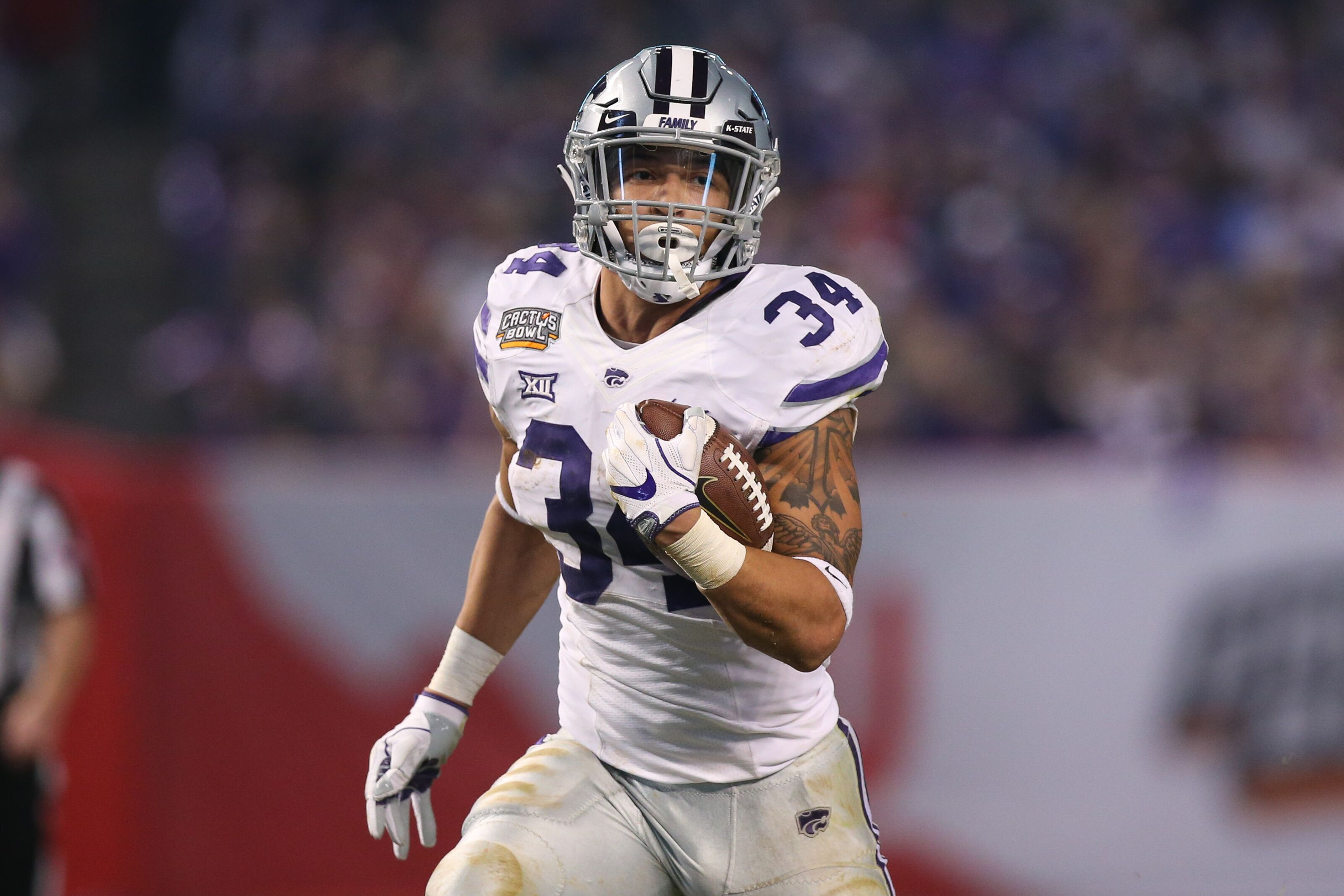 the best attitude cf909 d407f Kansas State Football: Alex Barnes has chance to be special ...