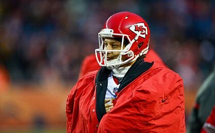 Denver Co December 31 Quarterback Patrick Mahomes 15 Of The Kansas City Chiefs Looks On From Sideline During A Against Broncos At
