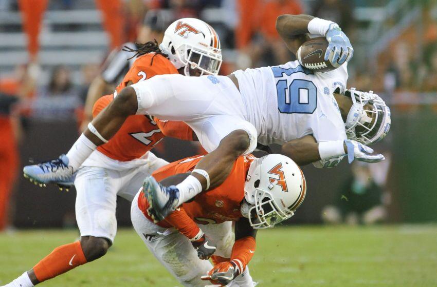Unc Football Helmet Stickers Vs Virginia Tech Hokies