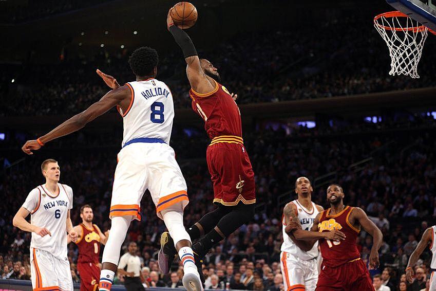 pretty nice a685e edb6a Dec 7, 2016  New York, NY, USA  Cleveland Cavaliers small forward LeBron  James (23) drives against New York Knicks shooting guard Justin Holiday (8)  during ...