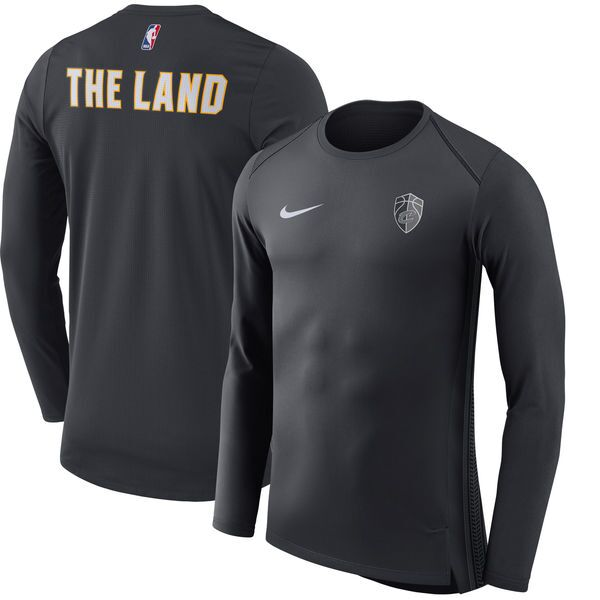 9dea29f3f40107 Cleveland Cavaliers Nike City Edition Long Sleeve Performance Shirt