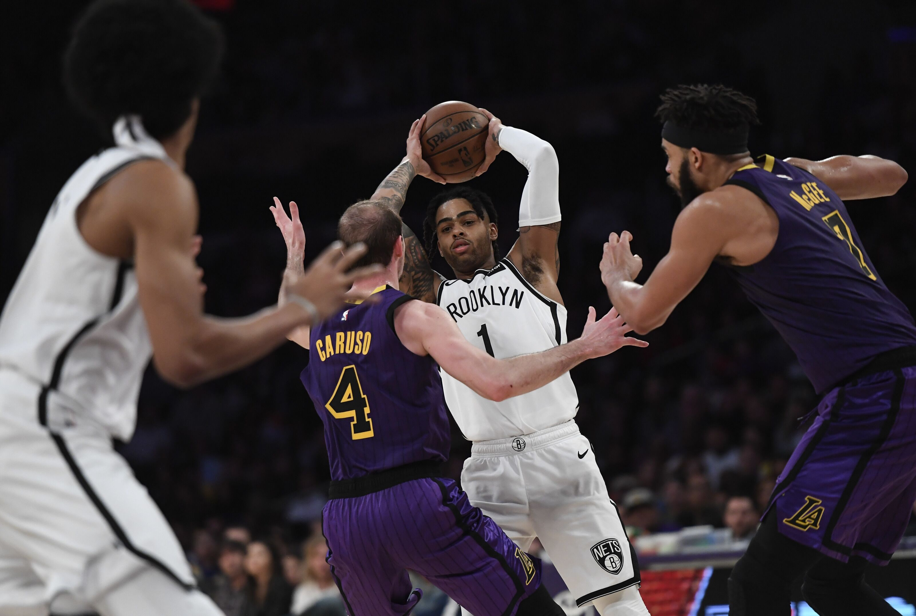 45383099fcb9 Los Angeles Lakers  D Angelo Russell ends playoff streak of LeBron