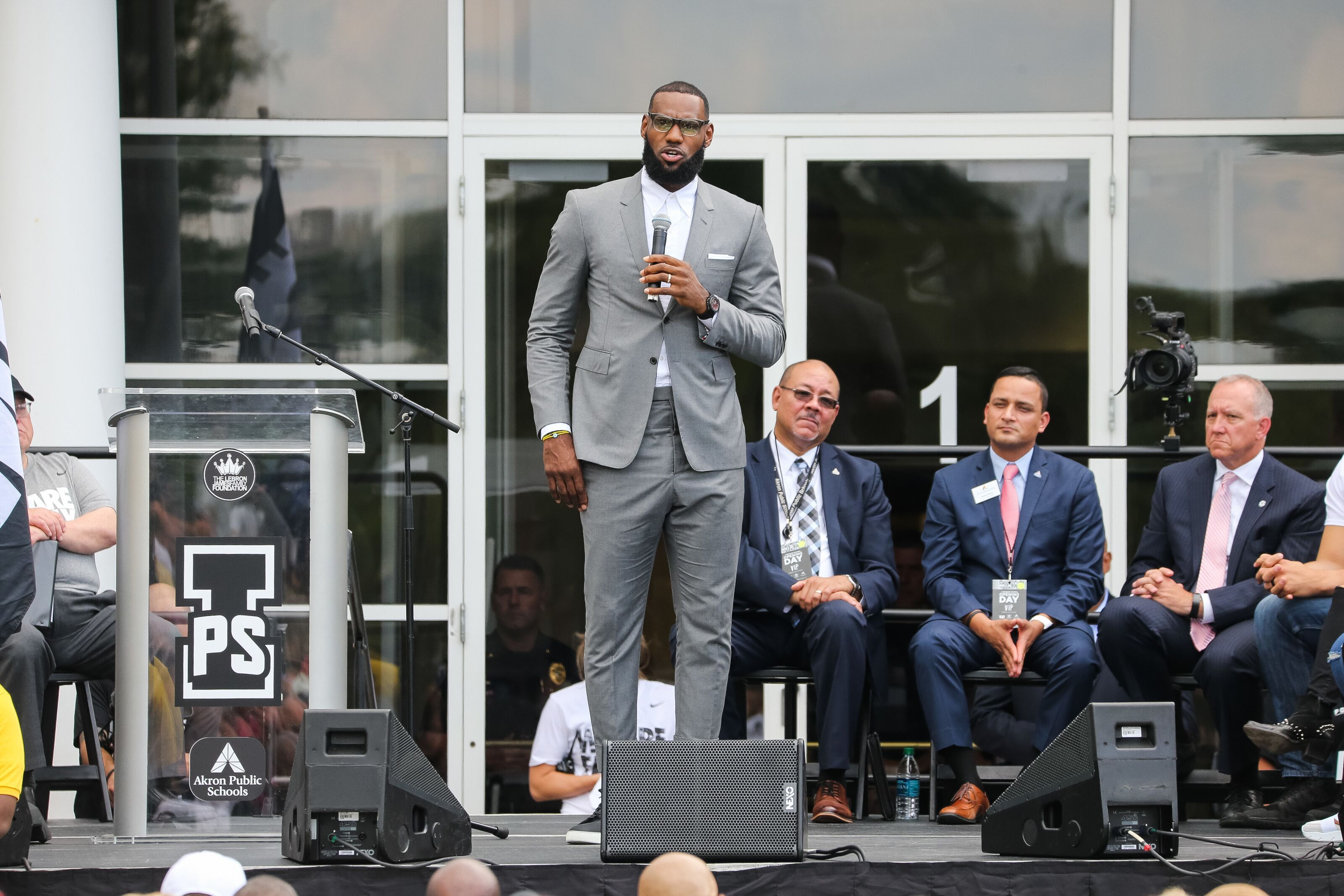best service f063a 92ee5 LeBron James successfully opens I Promise school