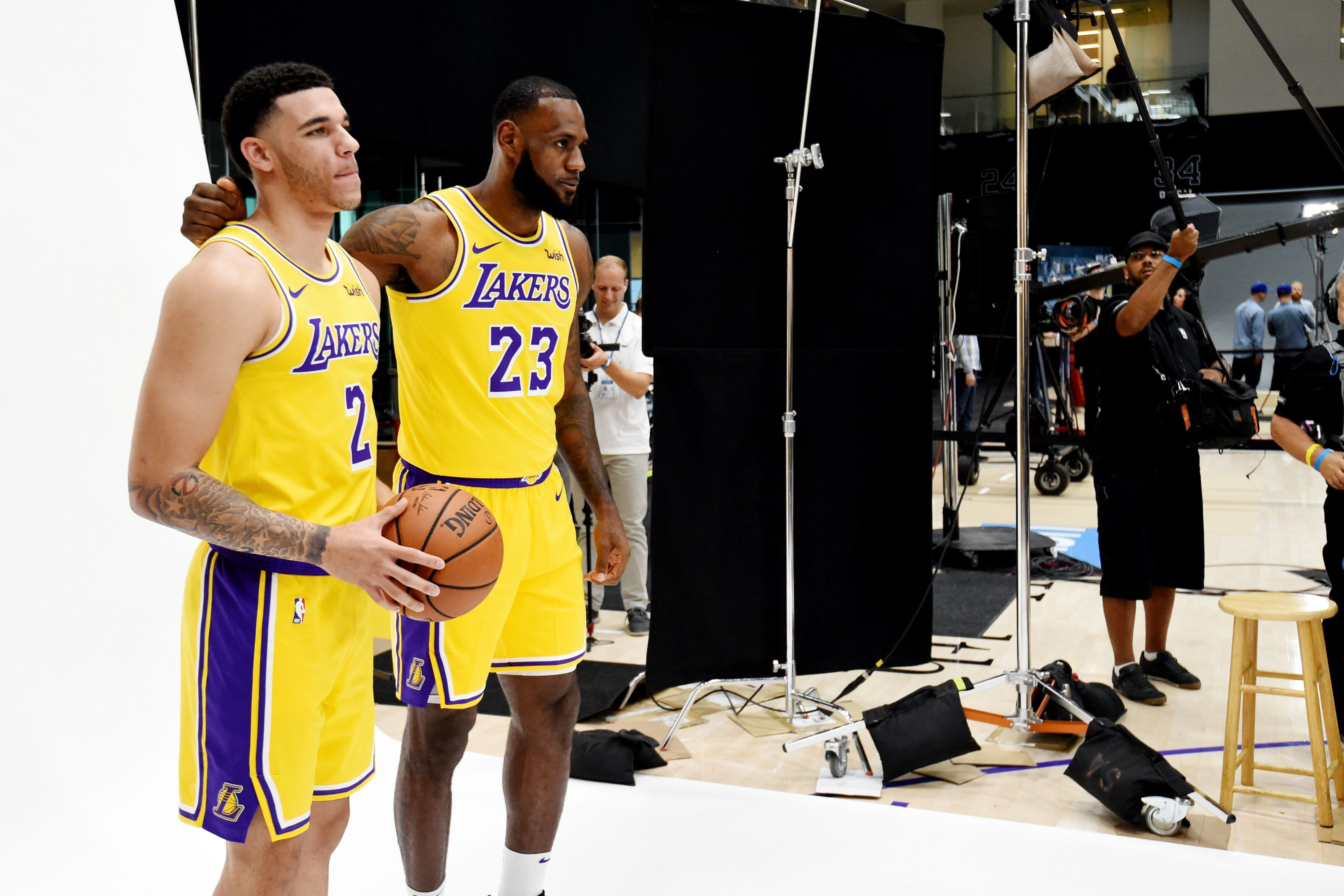 6e91ea9a1de Los Angeles Lakers  LeBron James in Lonzo Ball out 2nd preseason game