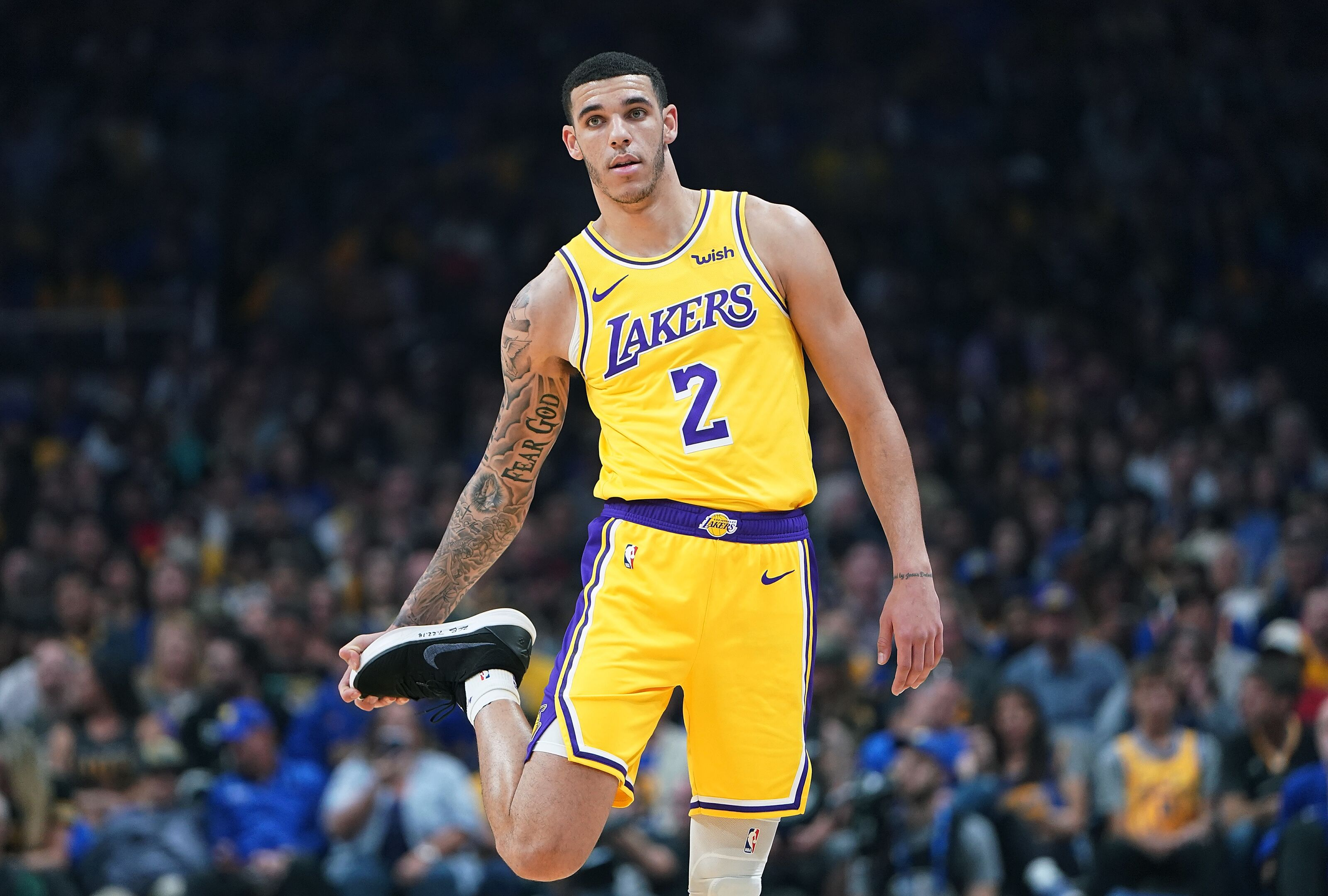 on sale 15f65 4ecf2 Los Angeles Lakers: Is Lonzo Ball still the future at point ...