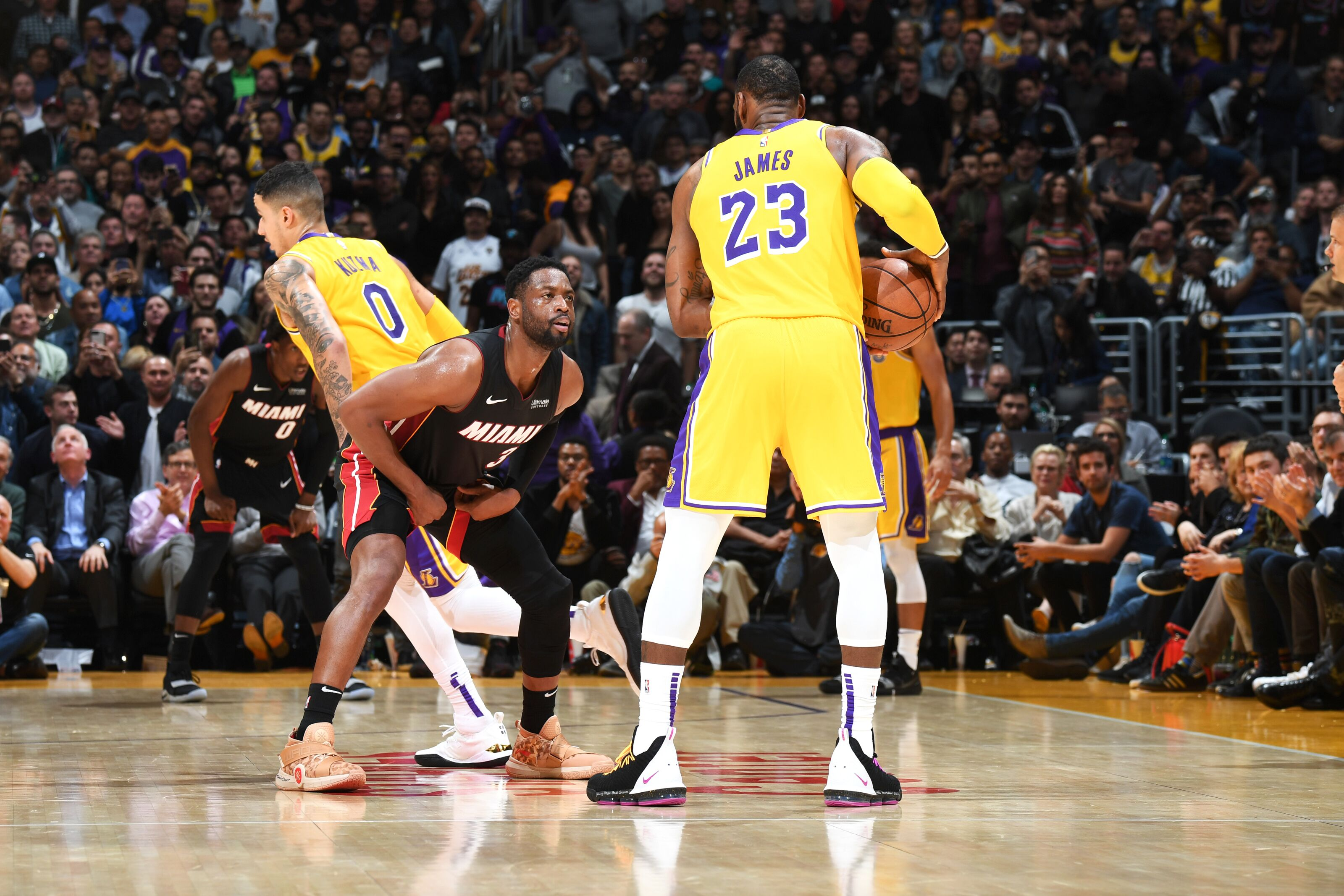 a28cfee11832 Los Angeles Lakers spoil Dwyane Wade swan song in Staples Center