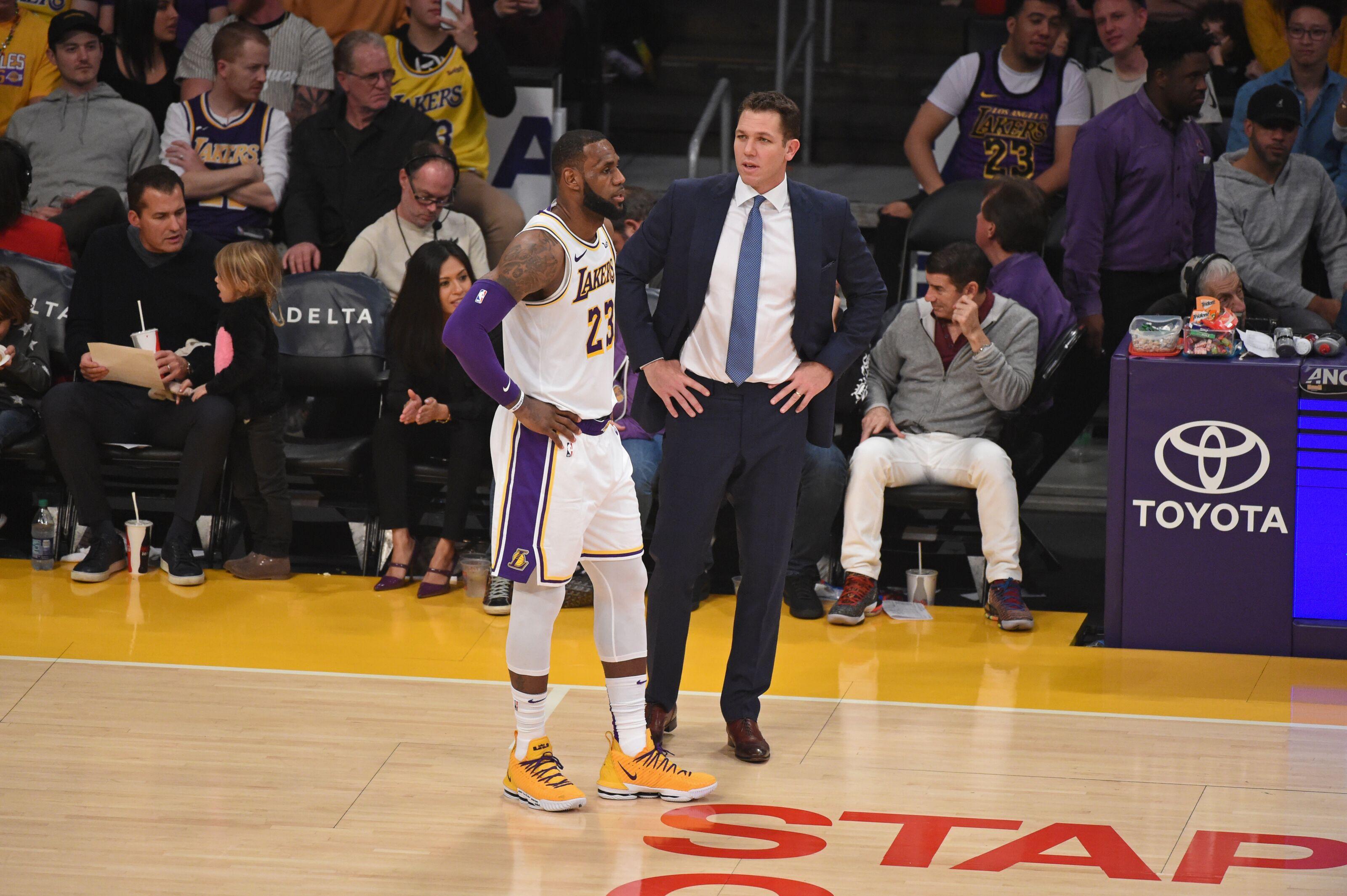 5c190d617 Los Angeles Lakers  Luke Walton hopes LeBron James is back soon