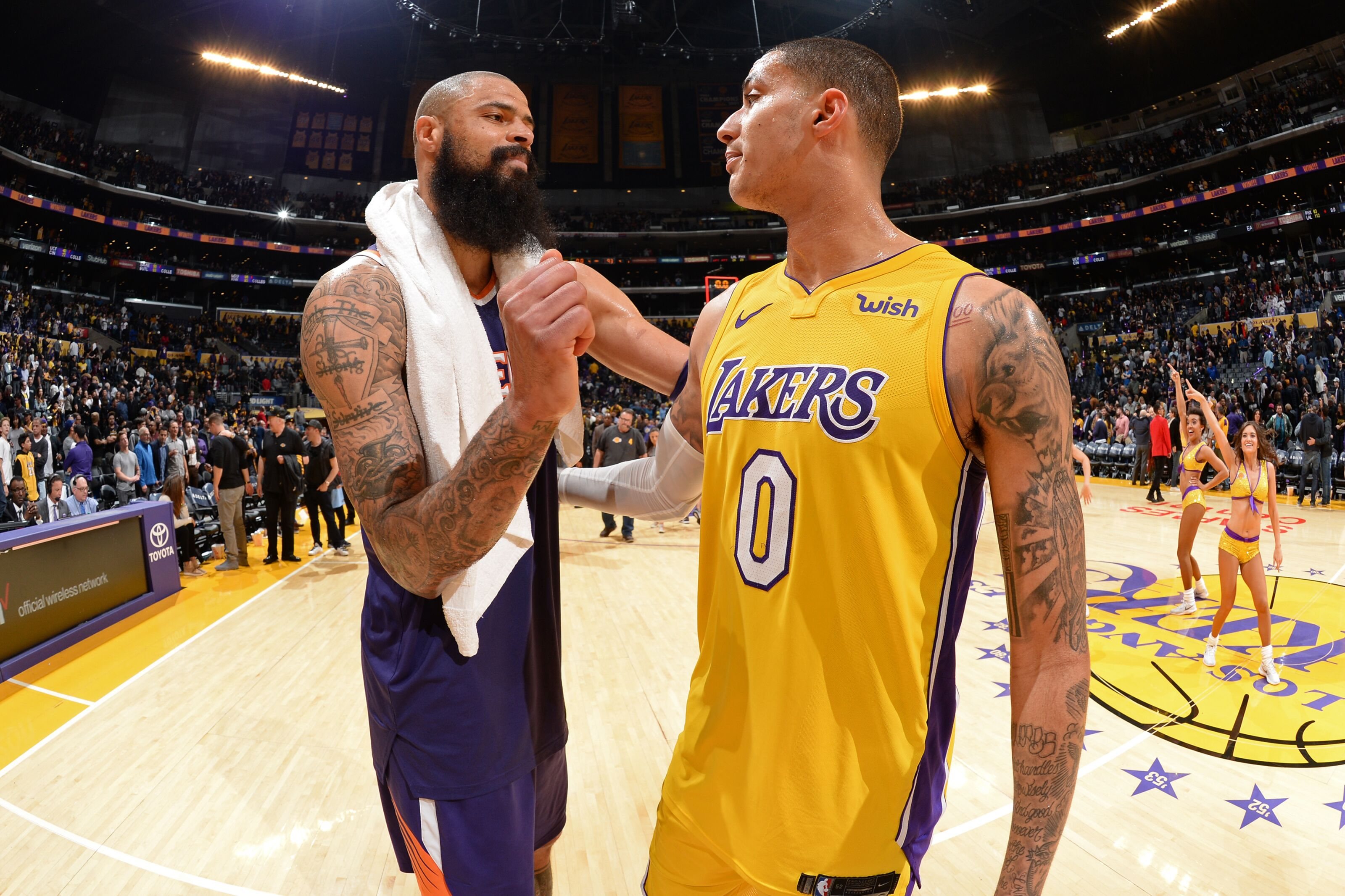 255cf8e49 Los Angeles Lakers  Tyson Chandler available to play vs Timberwolves