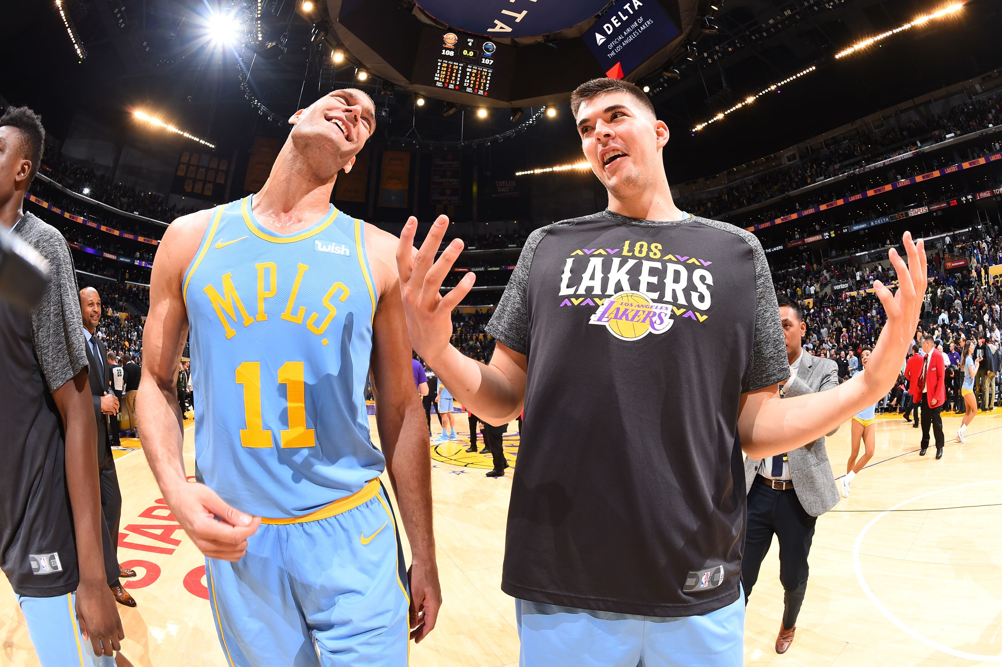 6f89d952d Los Angeles Lakers  Ivica Zubac has been practicing his three-point shot