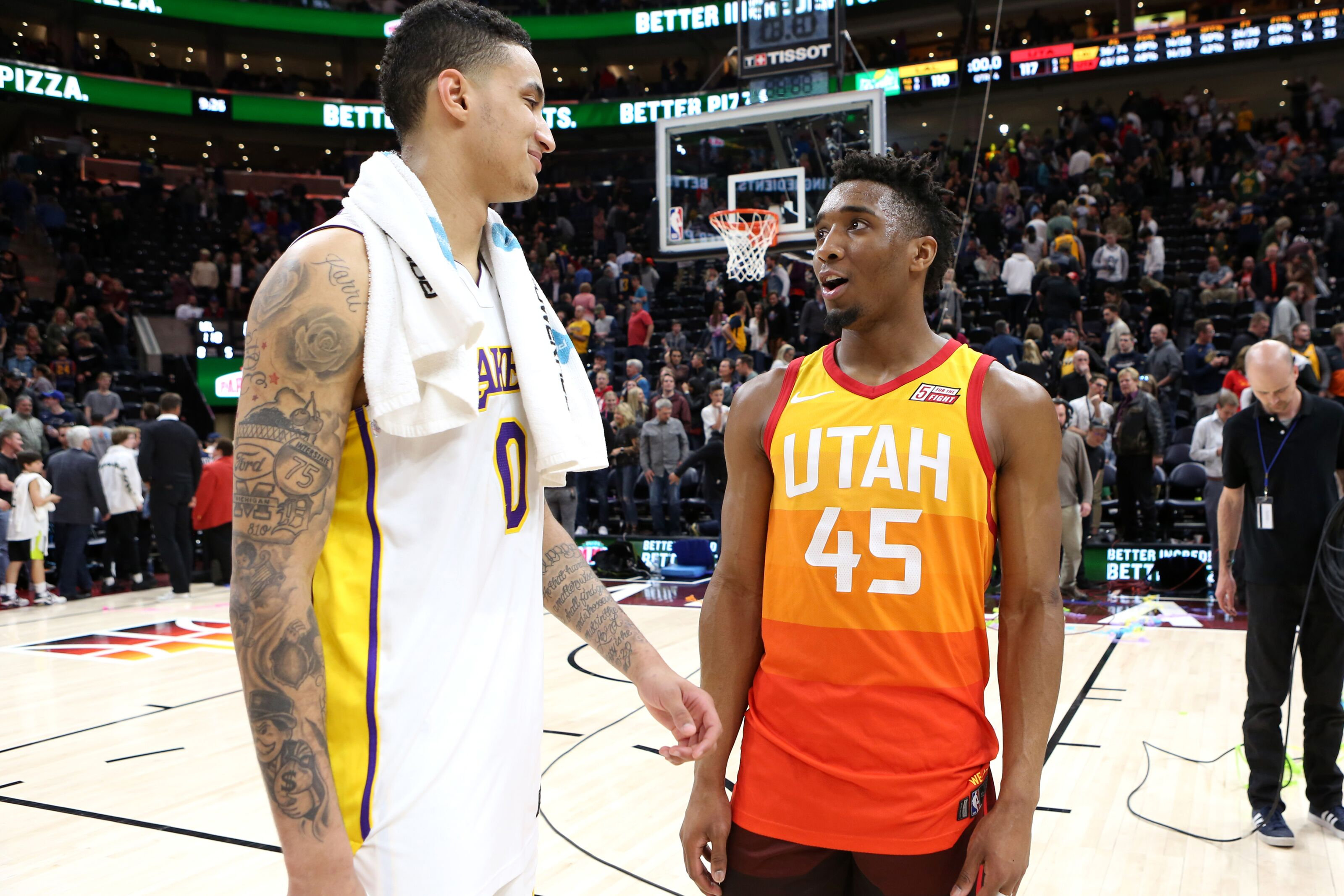 1d41a27a3ba Los Angeles Lakers  Kyle Kuzma makes Rookie of the Year pick