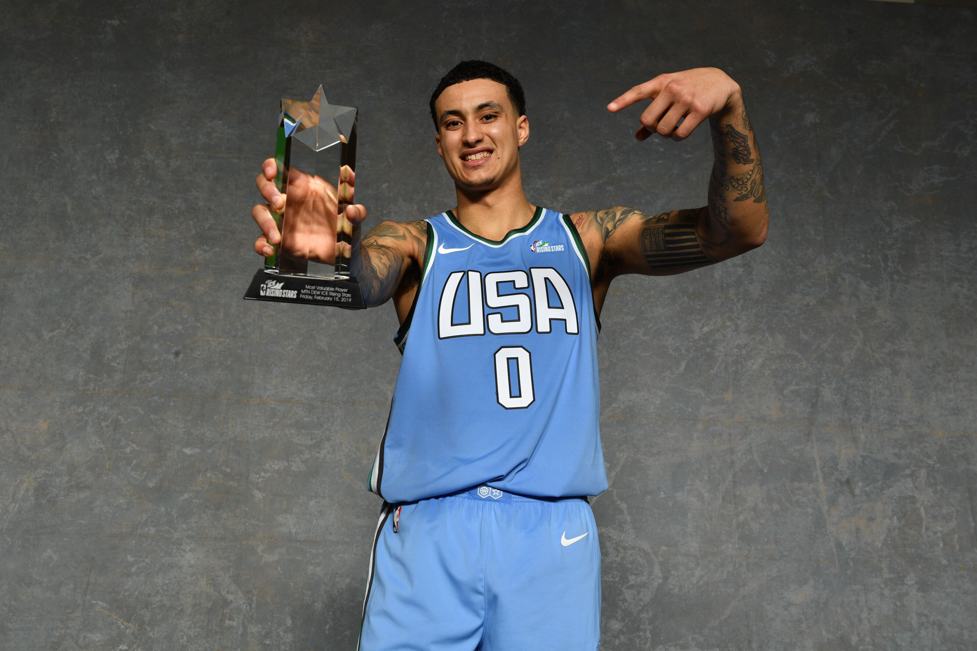 low priced 88c0e 692b1 Los Angeles Lakers  Kyle Kuzma shines in Rising Stars Challenge
