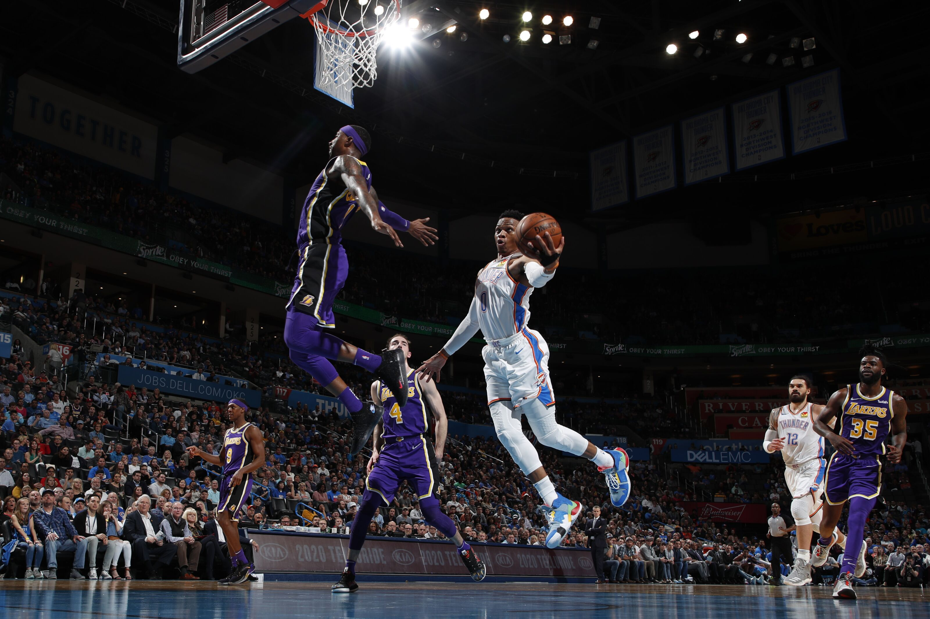 Los Angeles Lakers lose as Russell Westbrook has a historic