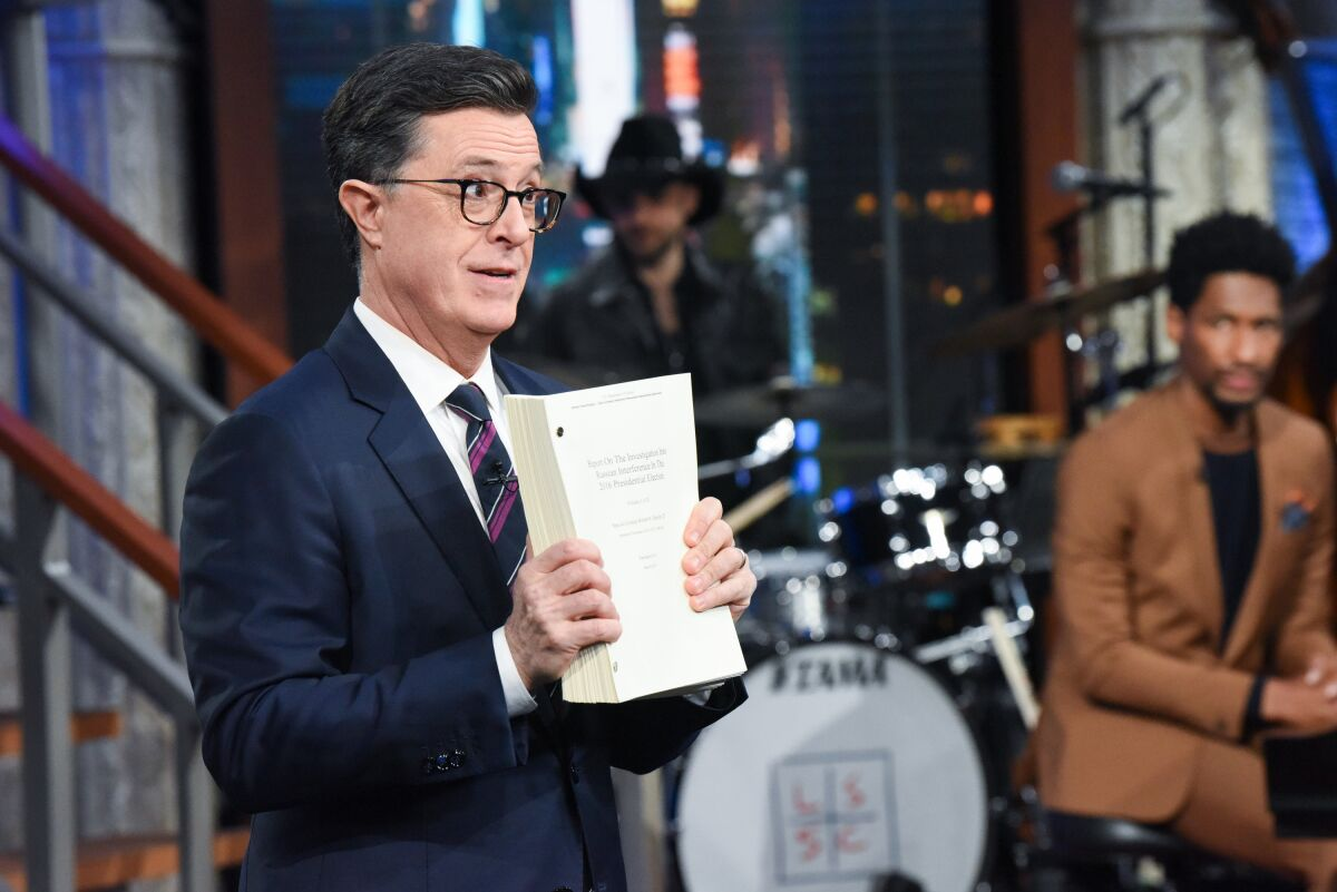 Stephen Colbert: Trump facing abuse of power, obstruction and bribery chargers