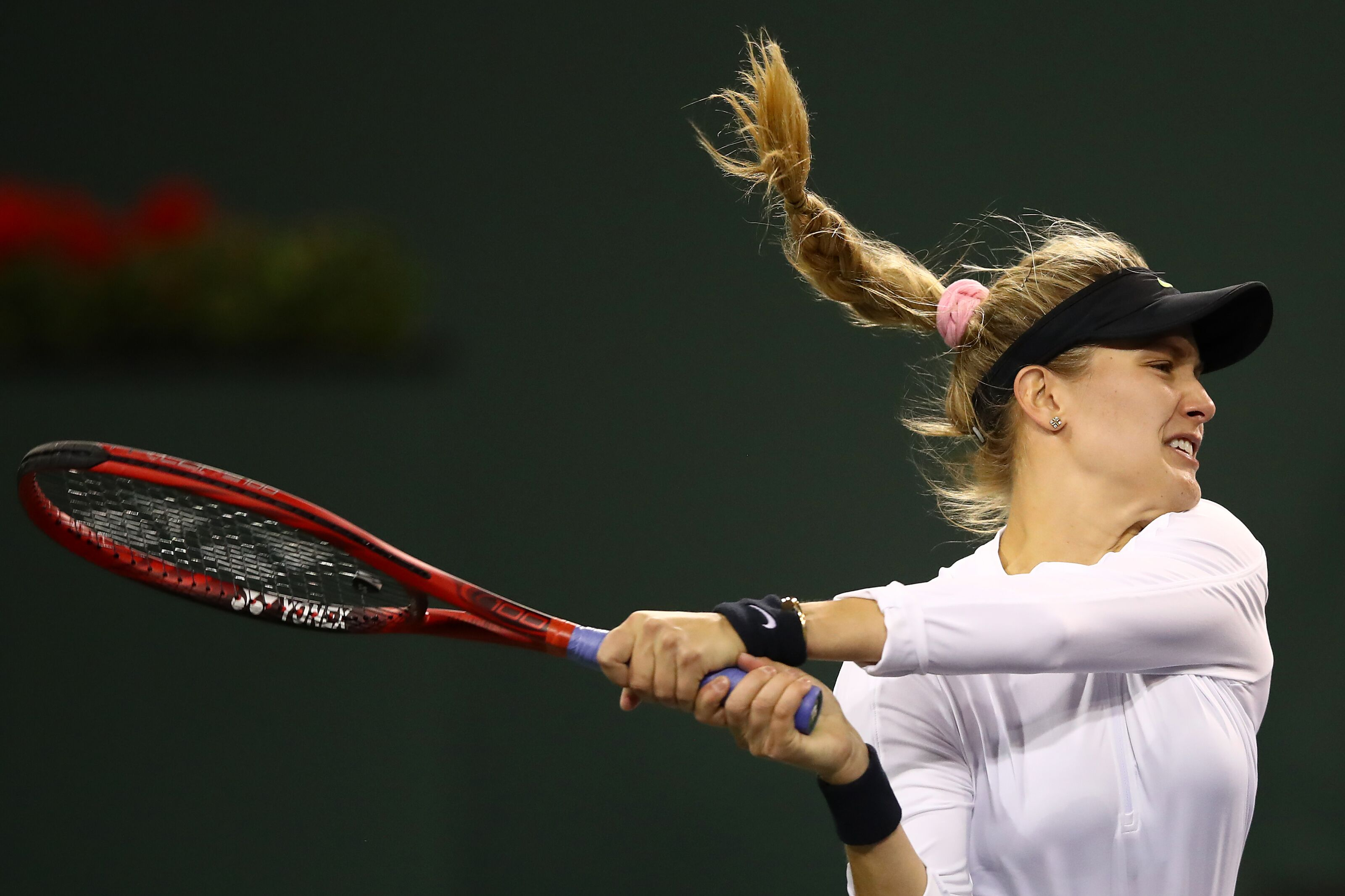 Eugenie Bouchard on the tennis courts AND Instagram in Miami