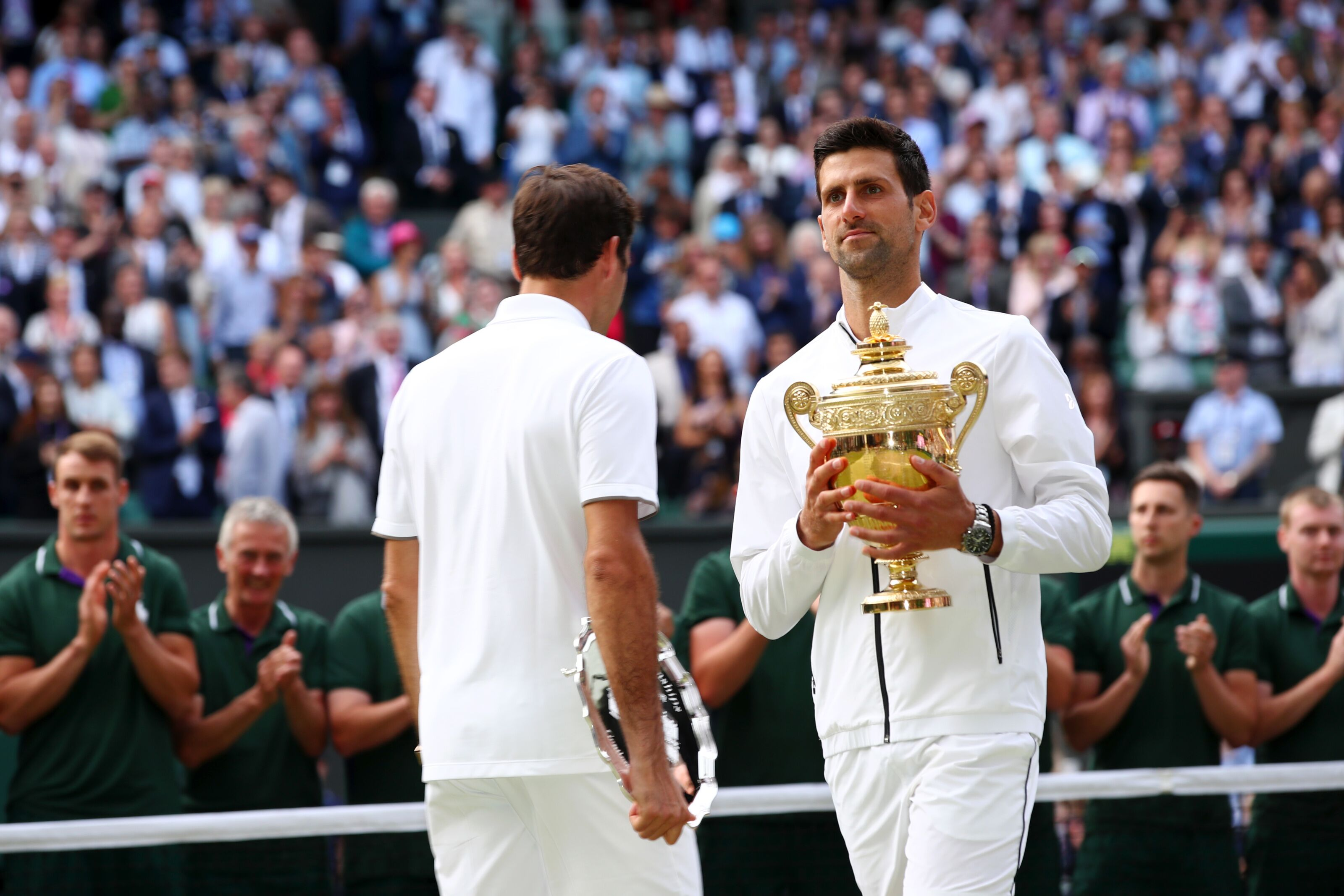 Novak Djokovic has Roger Federer's major record firmly in his sights
