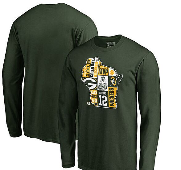 08fa4cdc1 Aaron Rodgers Green Bay Packers Girls Preschool Mainliner Name   Number T- Shirt