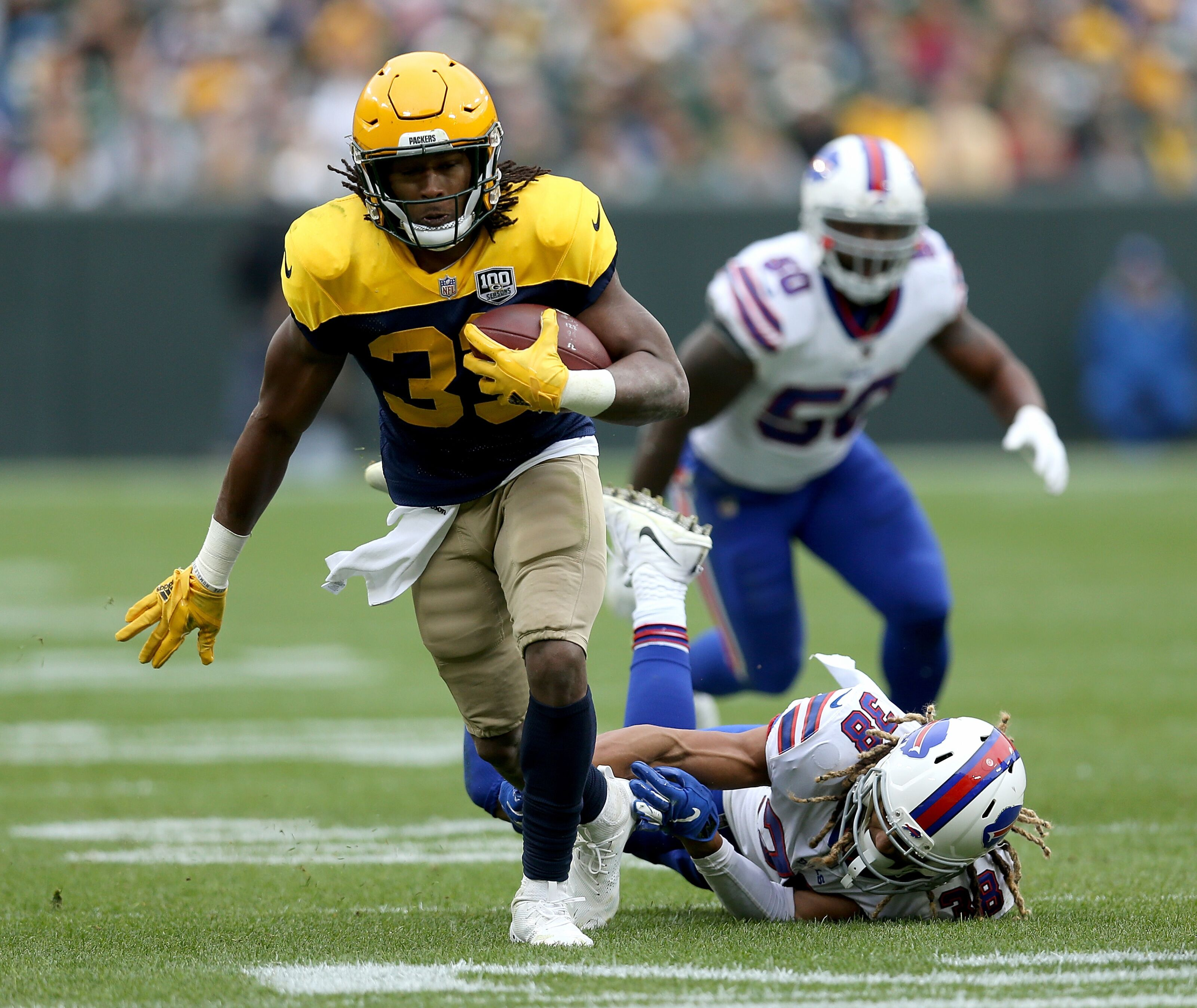 b058777b955 Packers News  Aaron Jones playing at Pro Bowl level