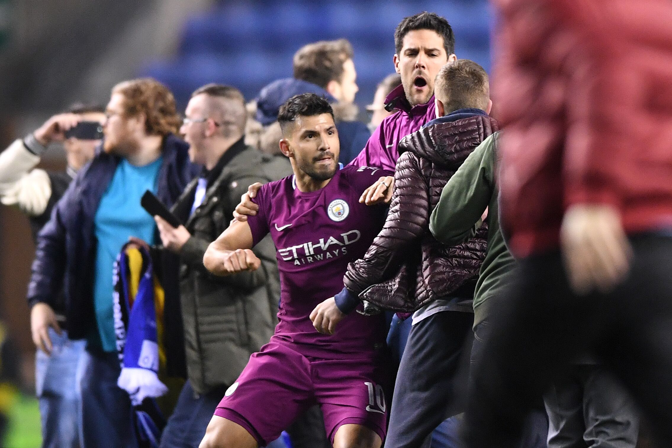Fa Cup Fallout Pitch Invasion And Aguero