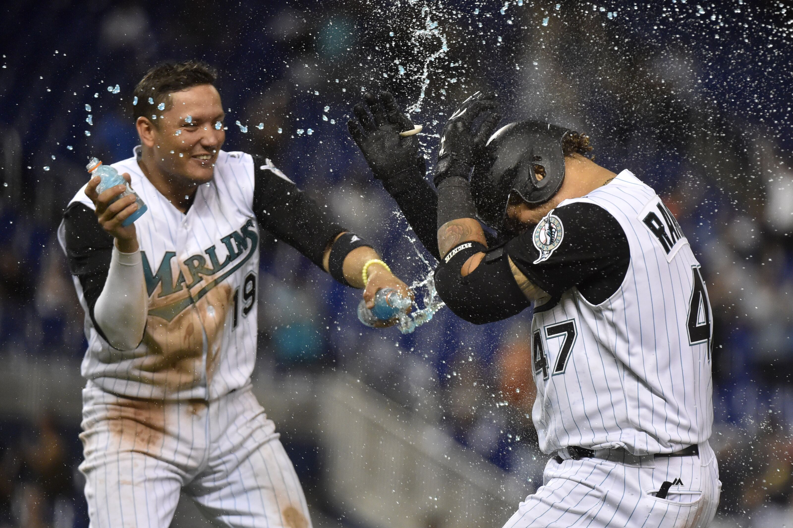 online store a3881 f2877 Miami Marlins Walkoff the Arizona Diamondbacks in Series Opener