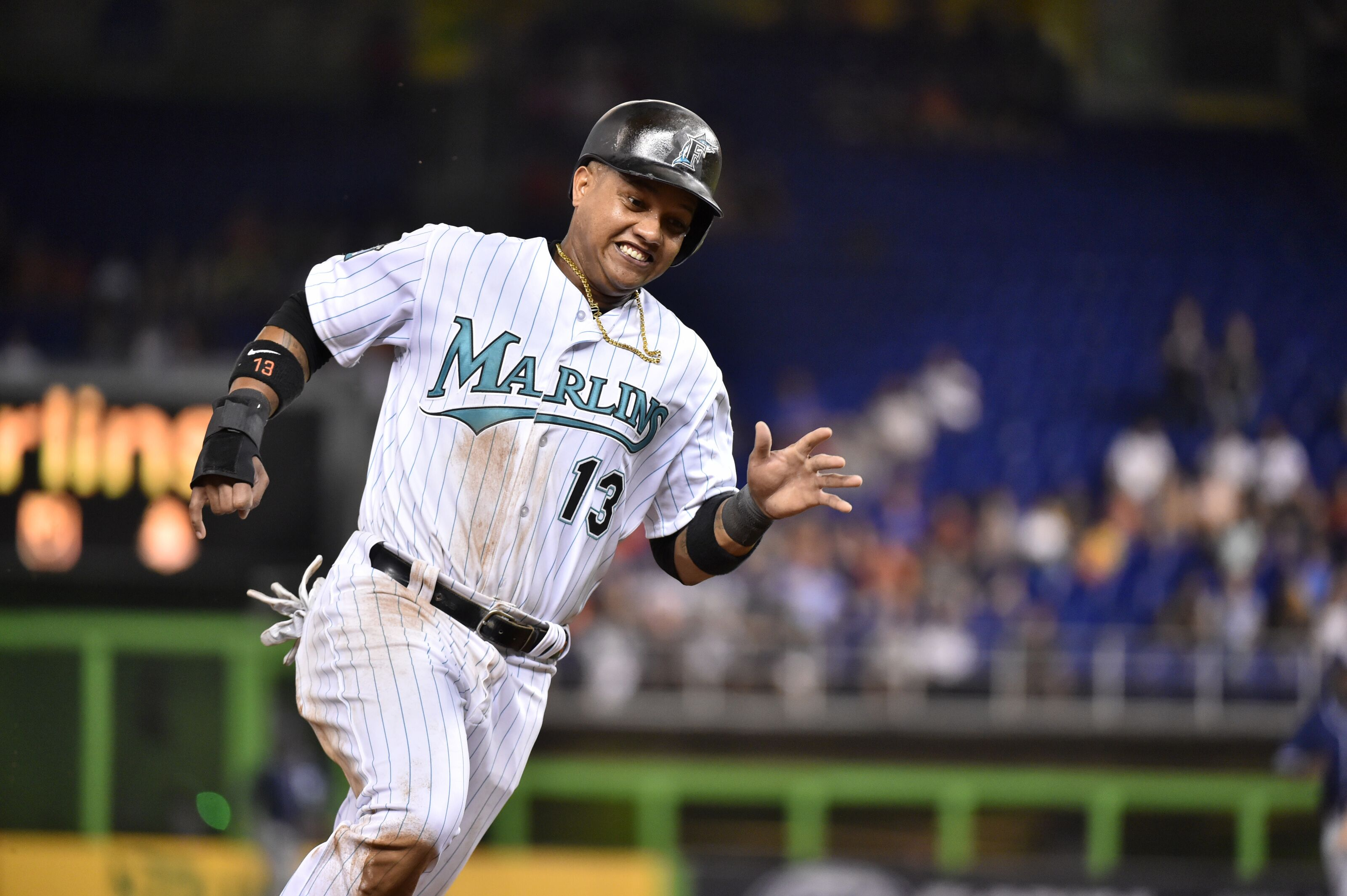 hot sale online 121fe 62eb9 Miami Marlins 2018 Player Review: Second Baseman All-Starlin ...