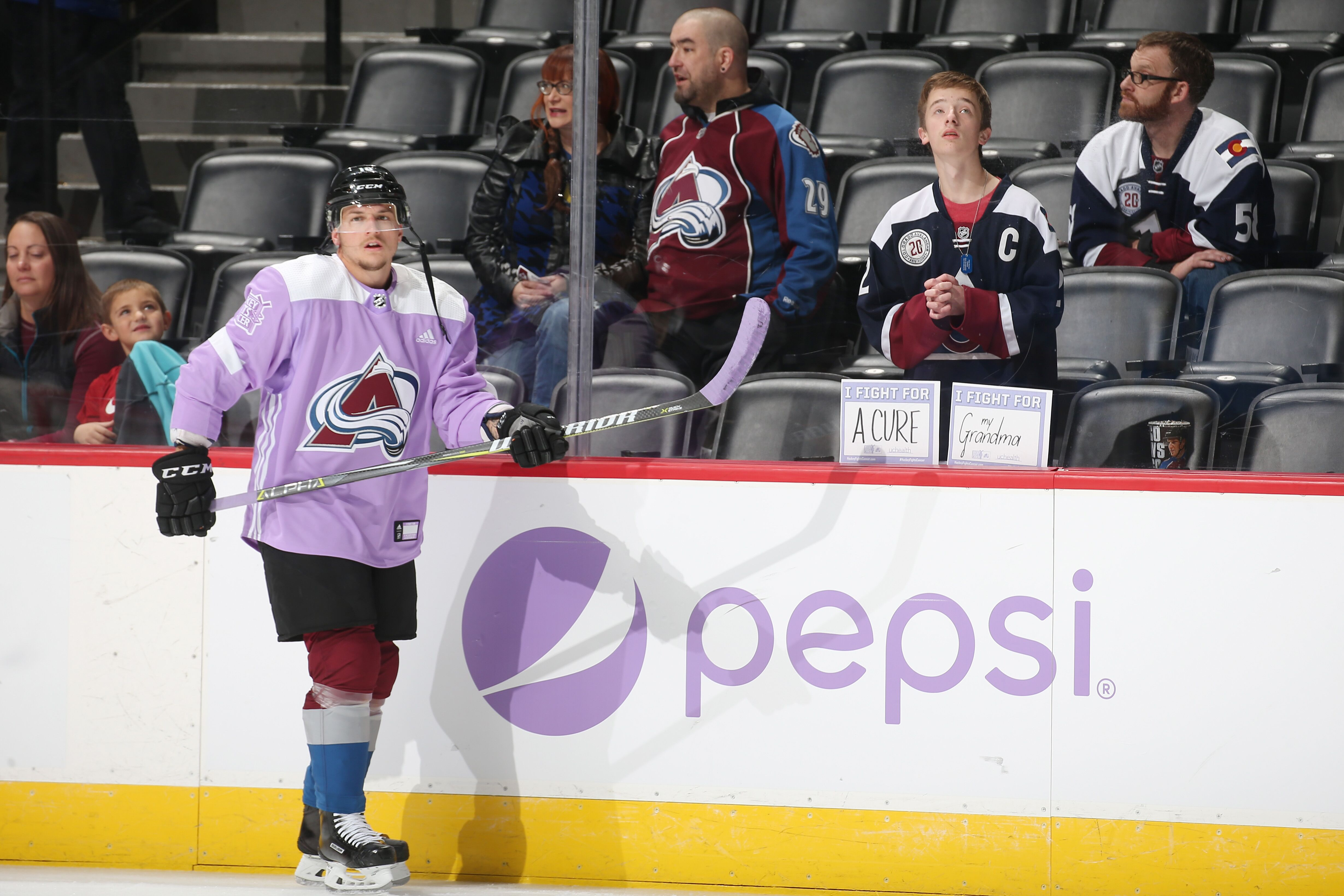66fa7b18f Avalanche Players Talk about Hockey Fights Cancer