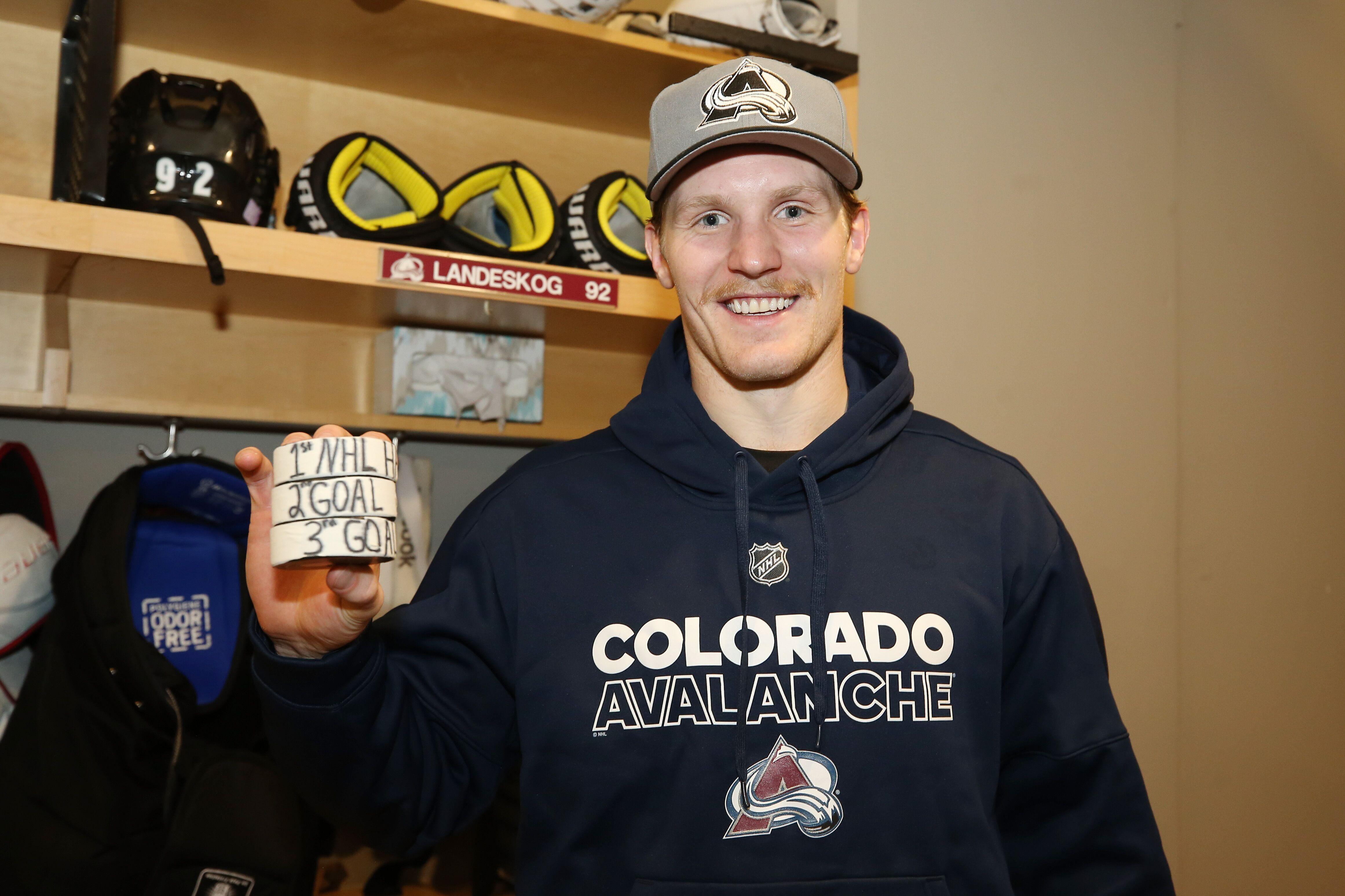 9cf6cf3e90d Colorado Avalanche  All About Gabriel Landeskog s 1st NHL Hat Trick