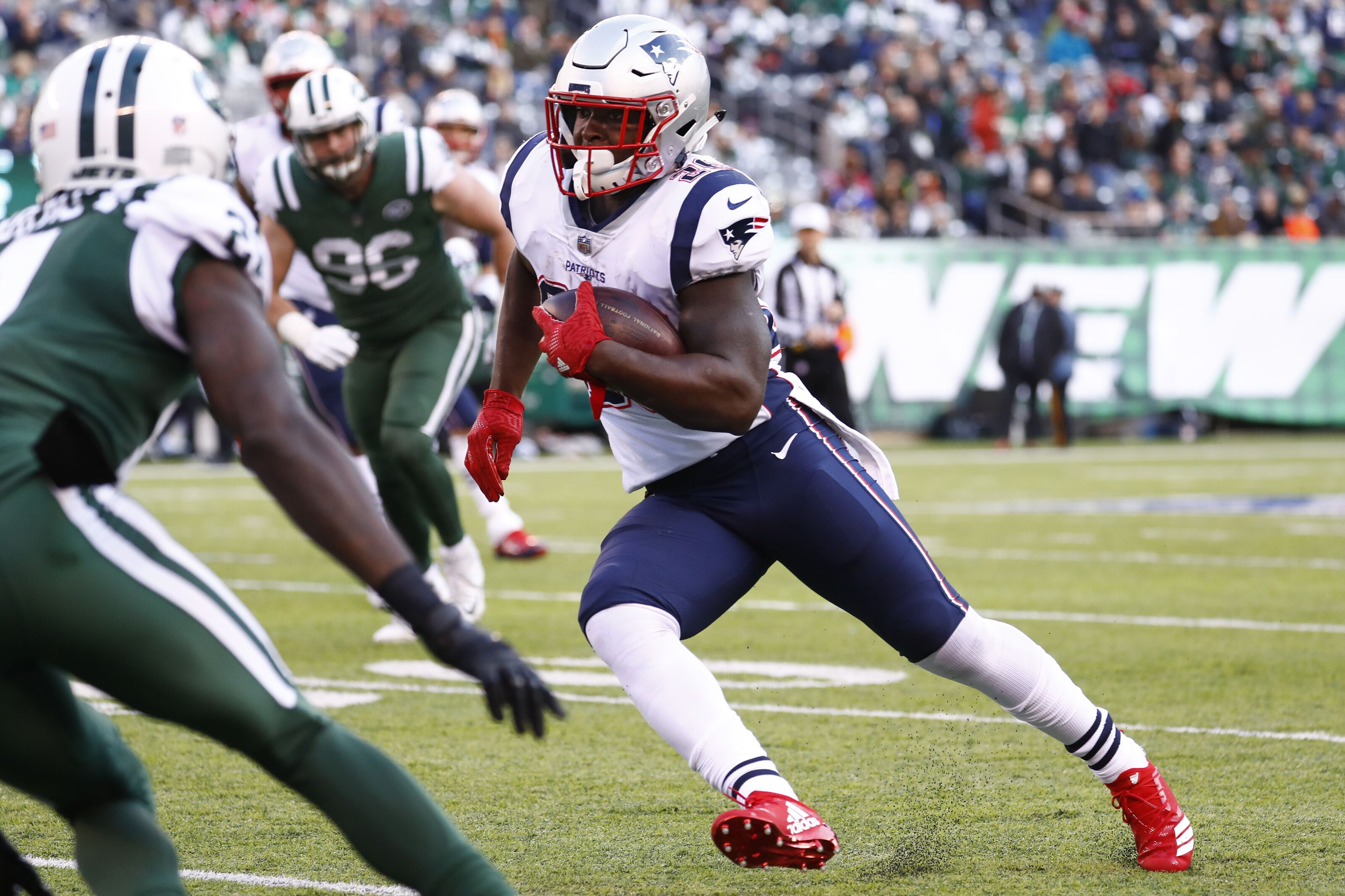 Jets defense should be a good measuring stick for Sony Michel