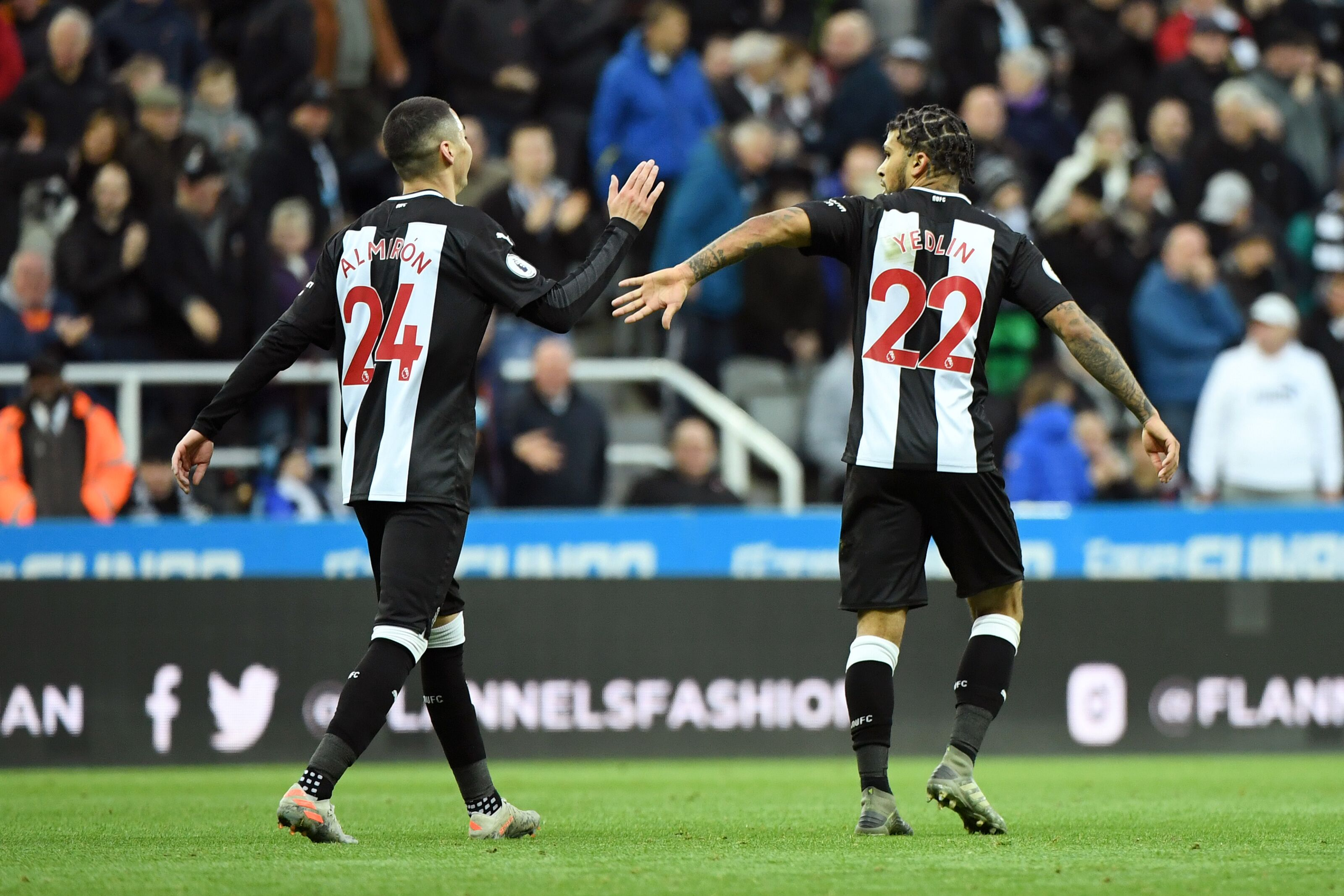 Newcastle's benefiting from quality partnerships on both flanks