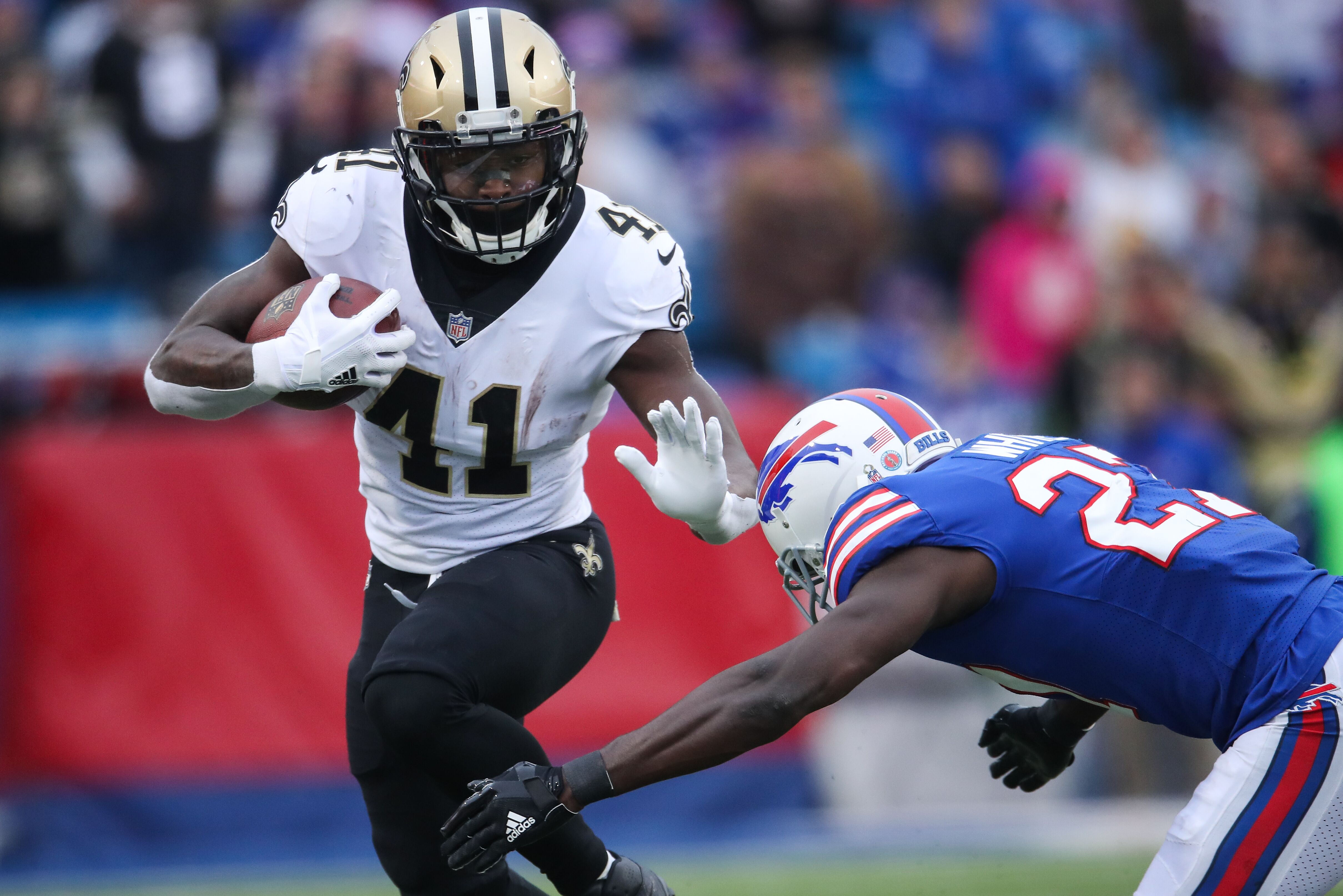 New Orleans Saints running back Alvin Kamara showed off his vocal talents during a commercial break for the ESPYs awards Wednesday night