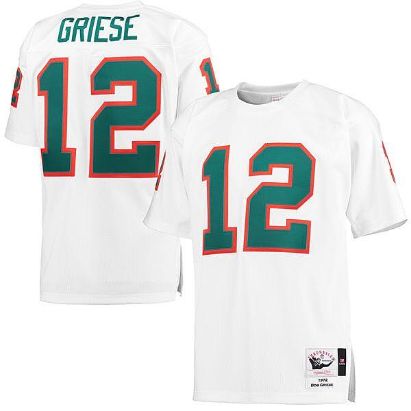 512118a7 Men's Miami Dolphins Dan Marino Mitchell & Ness Aqua Retired Player Vintage Replica  Jersey