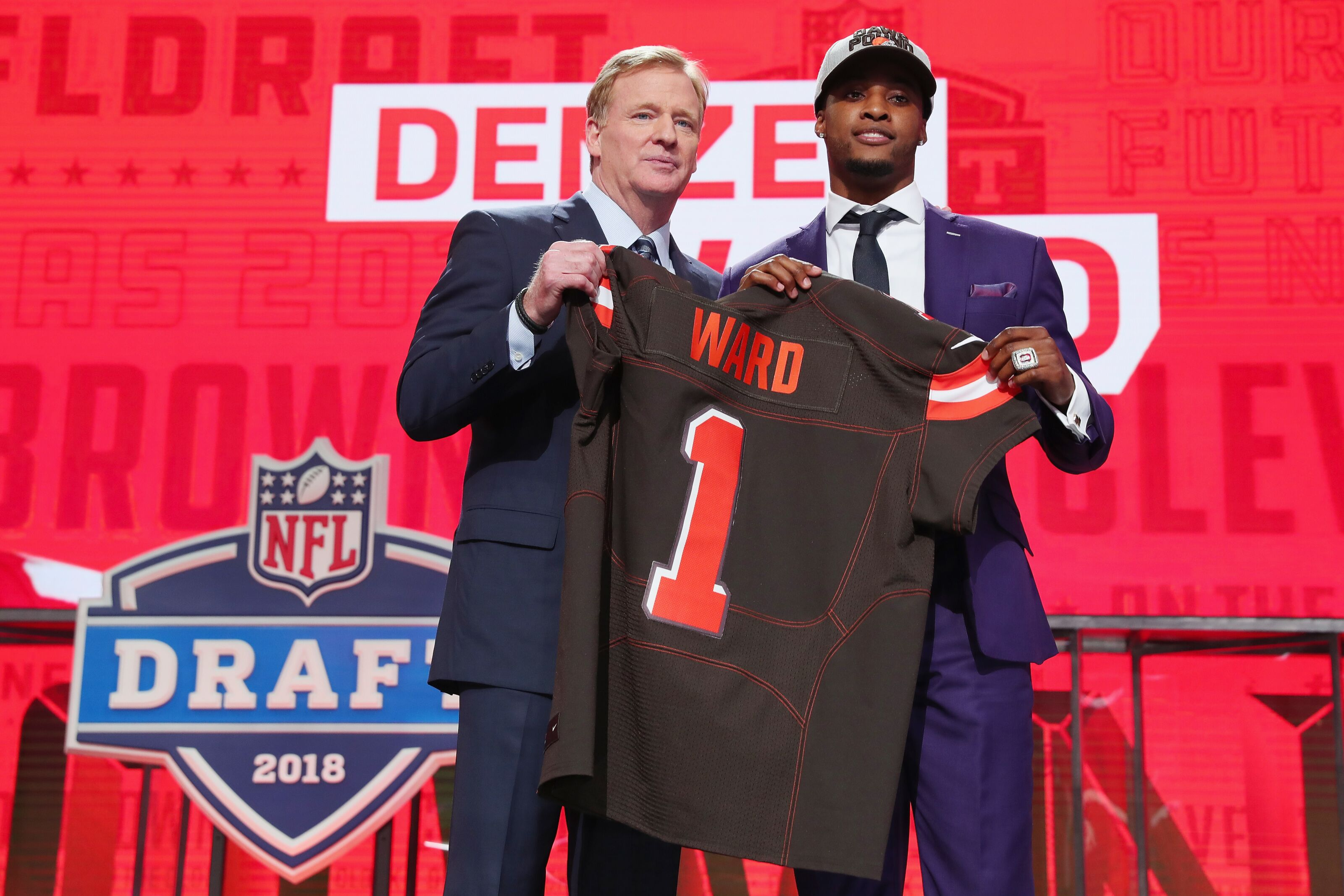 Image result for denzel ward draft with commissioner