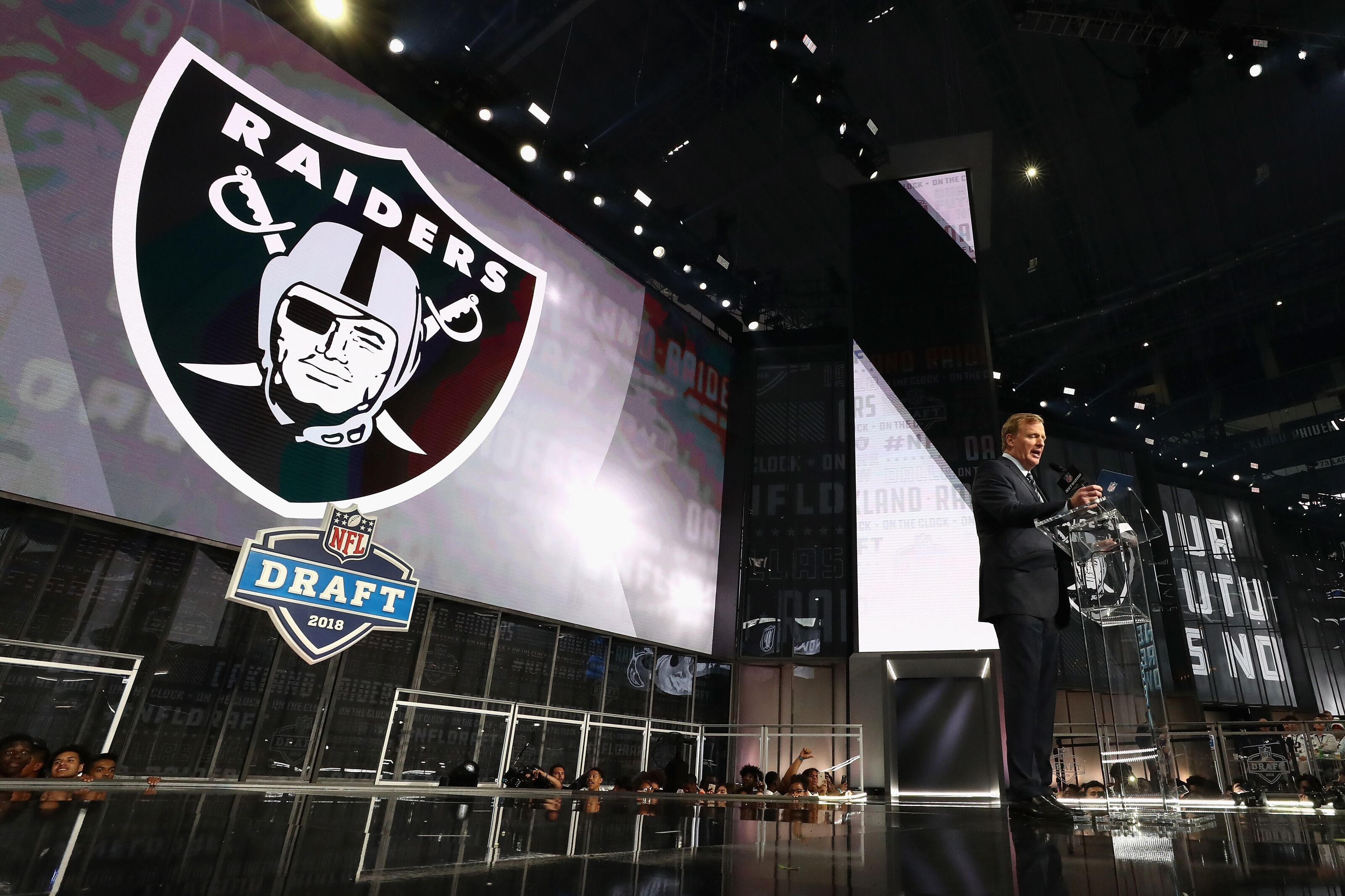 Image result for ROGER GOODELL ANNOUNCING RAIDERS PICK