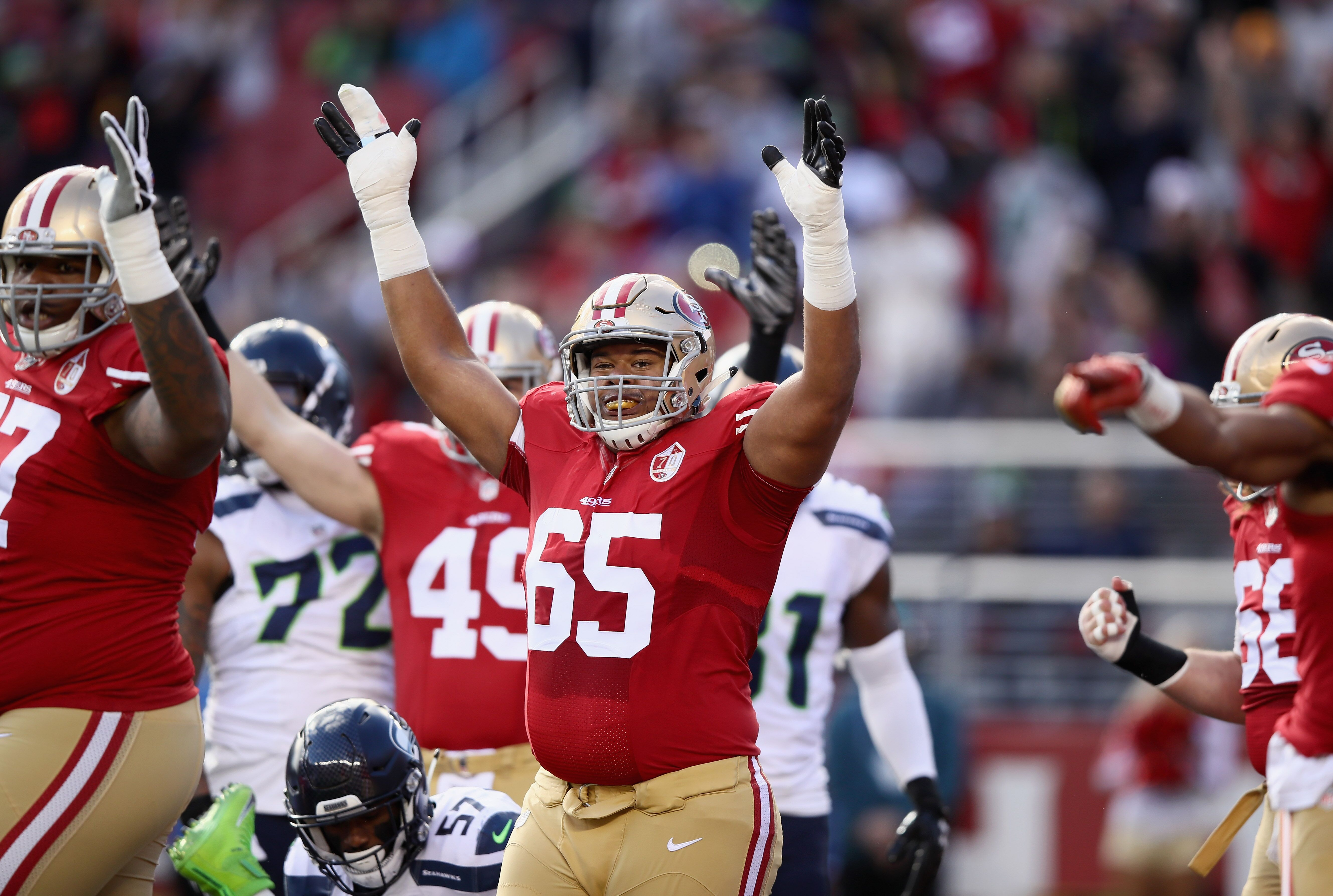 f1b9b622f 49ers  What to do with offensive guard Joshua Garnett in 2019