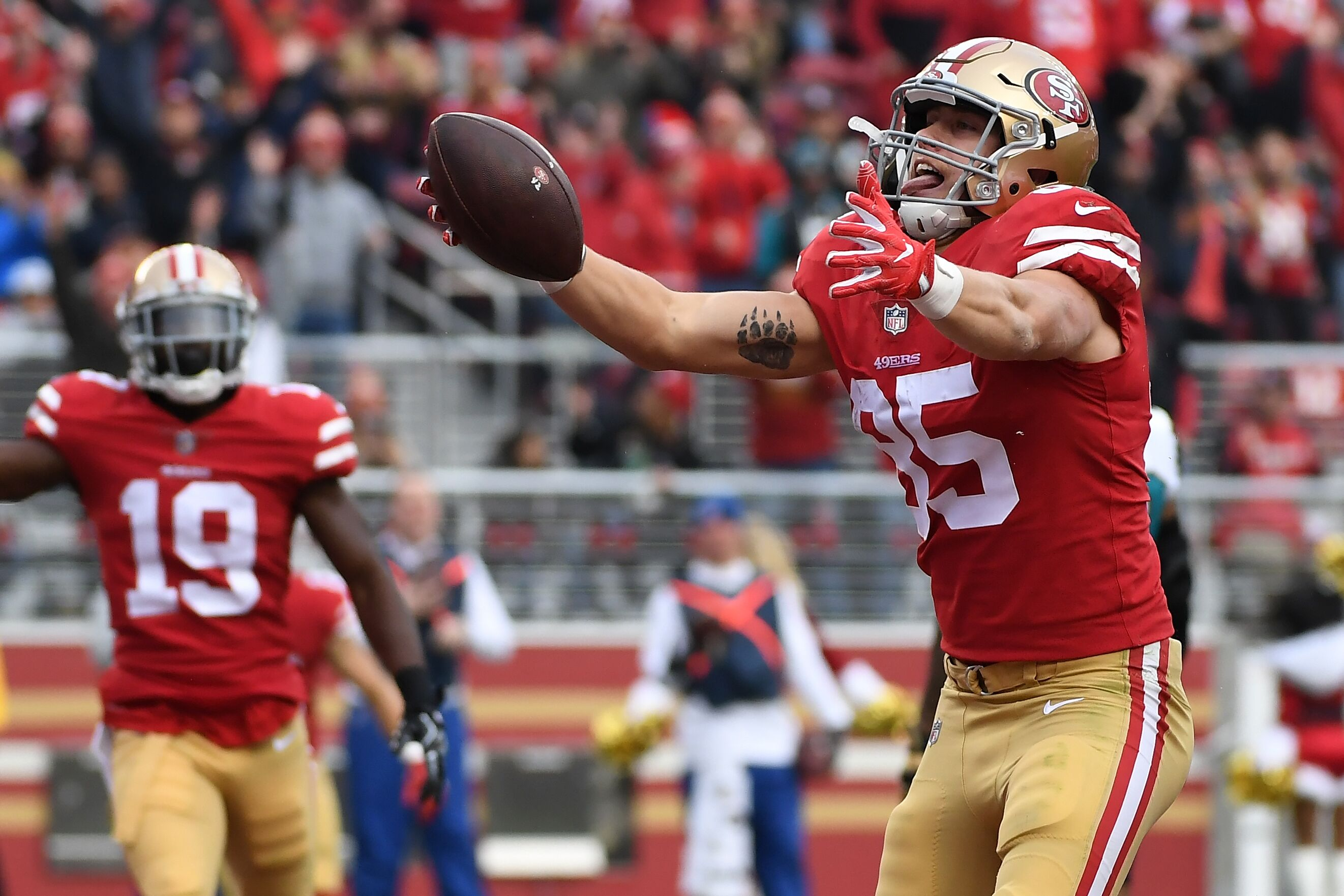 e9cb0ee593b 49ers dodge a bullet with injury to tight end George Kittle