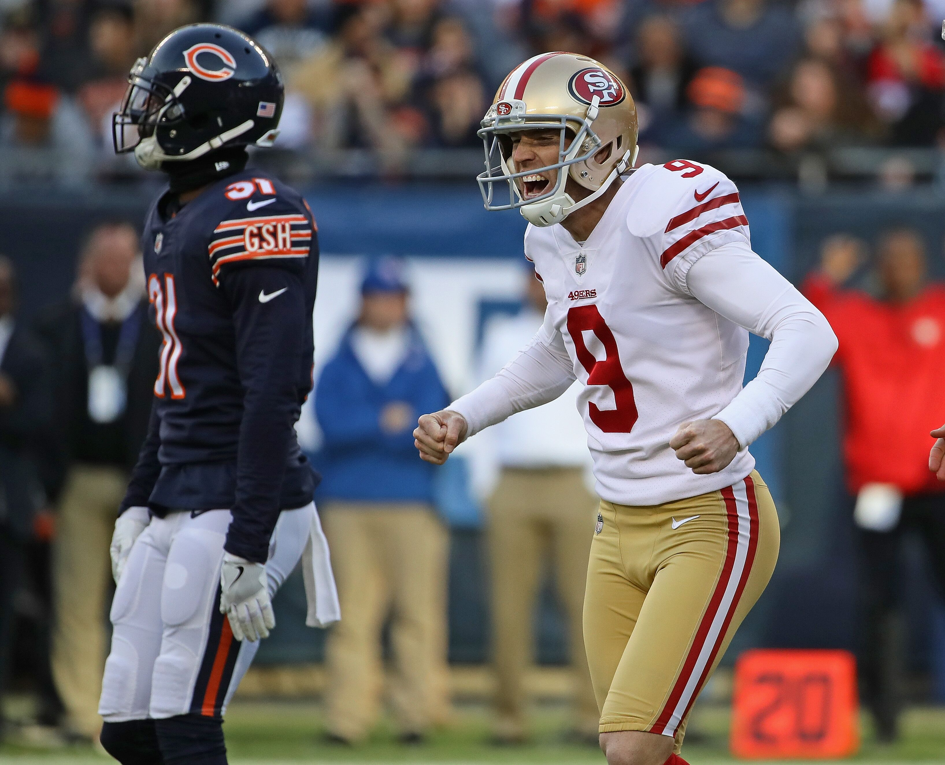 4aeb1f6e 49ers' priority to re-sign Robbie Gould made by Bears' miss vs. Eagles