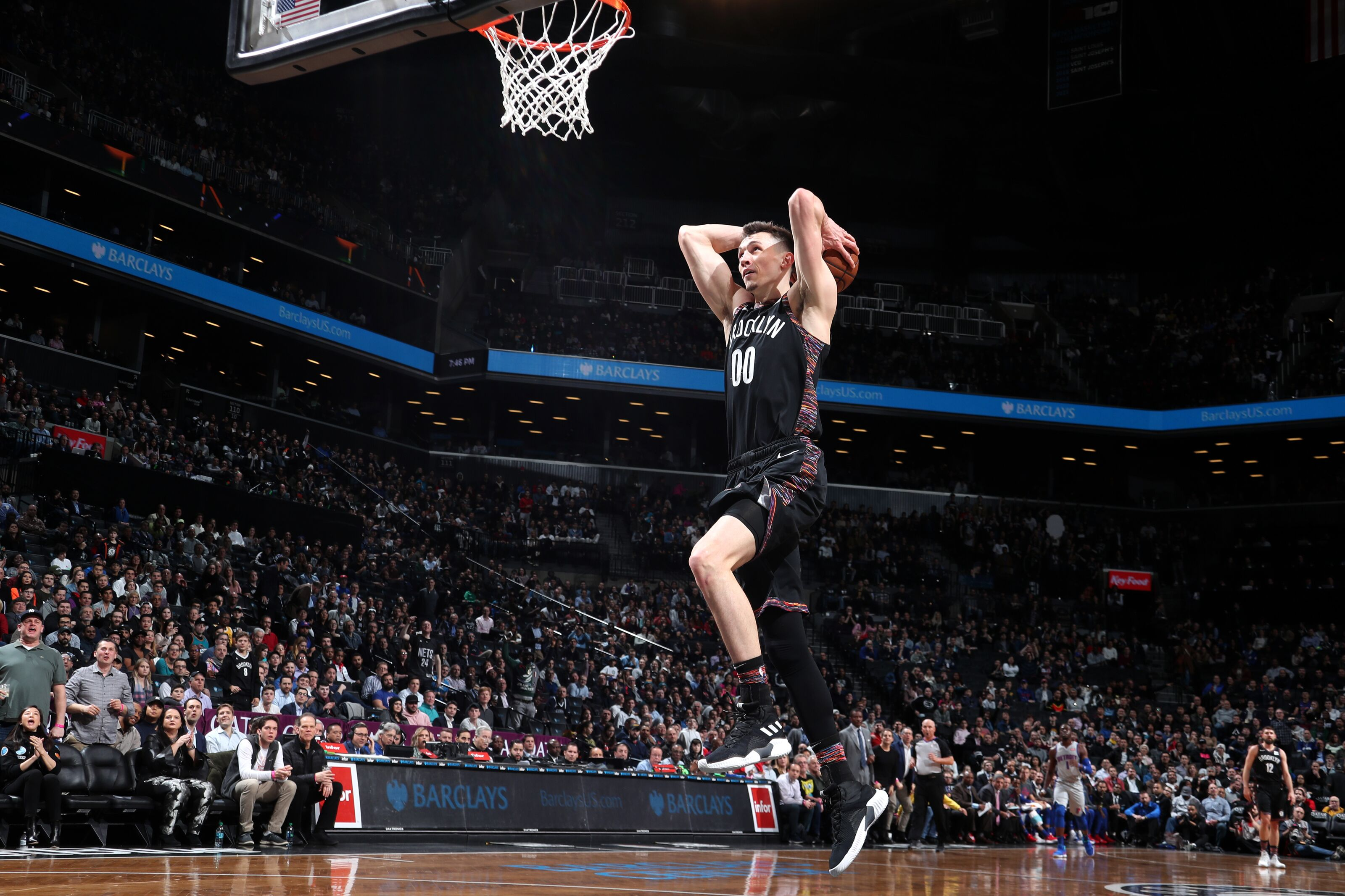 Brooklyn Nets: Rodions Kurucs wins matchup with All-Star Blake Griffin